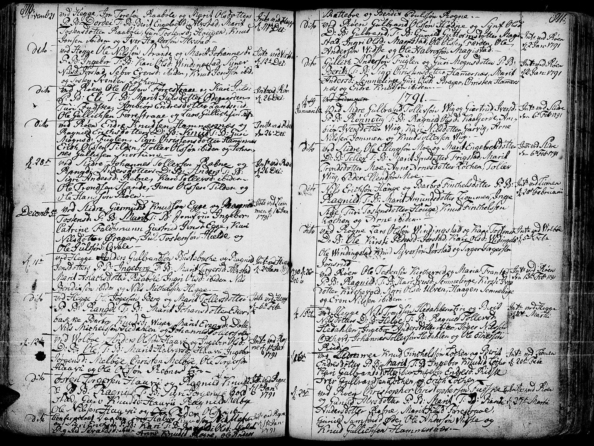 SAH, Slidre prestekontor, Ministerialbok nr. 1, 1724-1814, s. 810-811