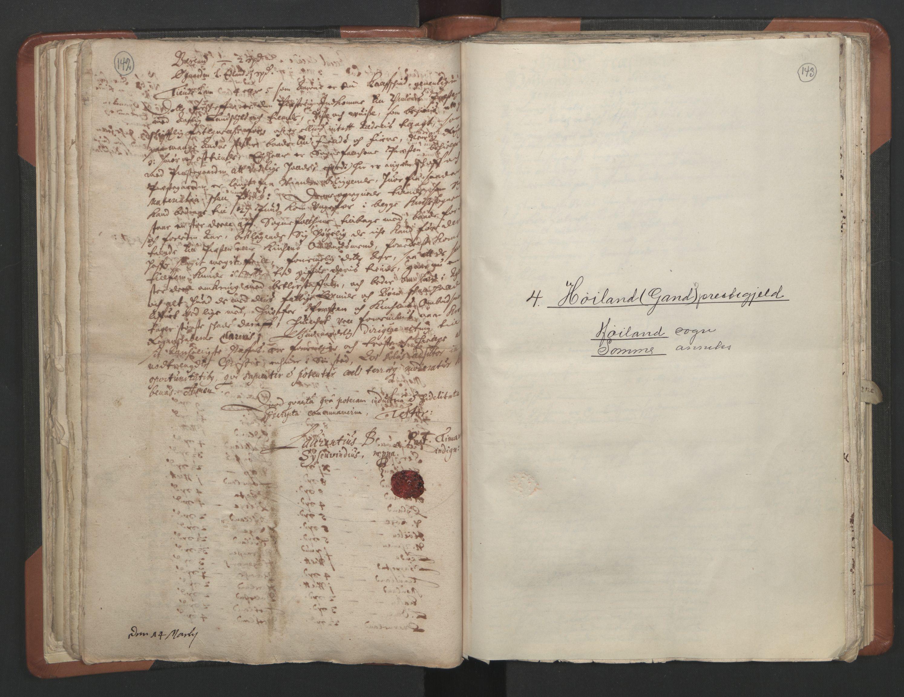 RA, Sogneprestenes manntall 1664-1666, nr. 17: Jæren prosti og Dalane prosti, 1664-1666, s. 142-143