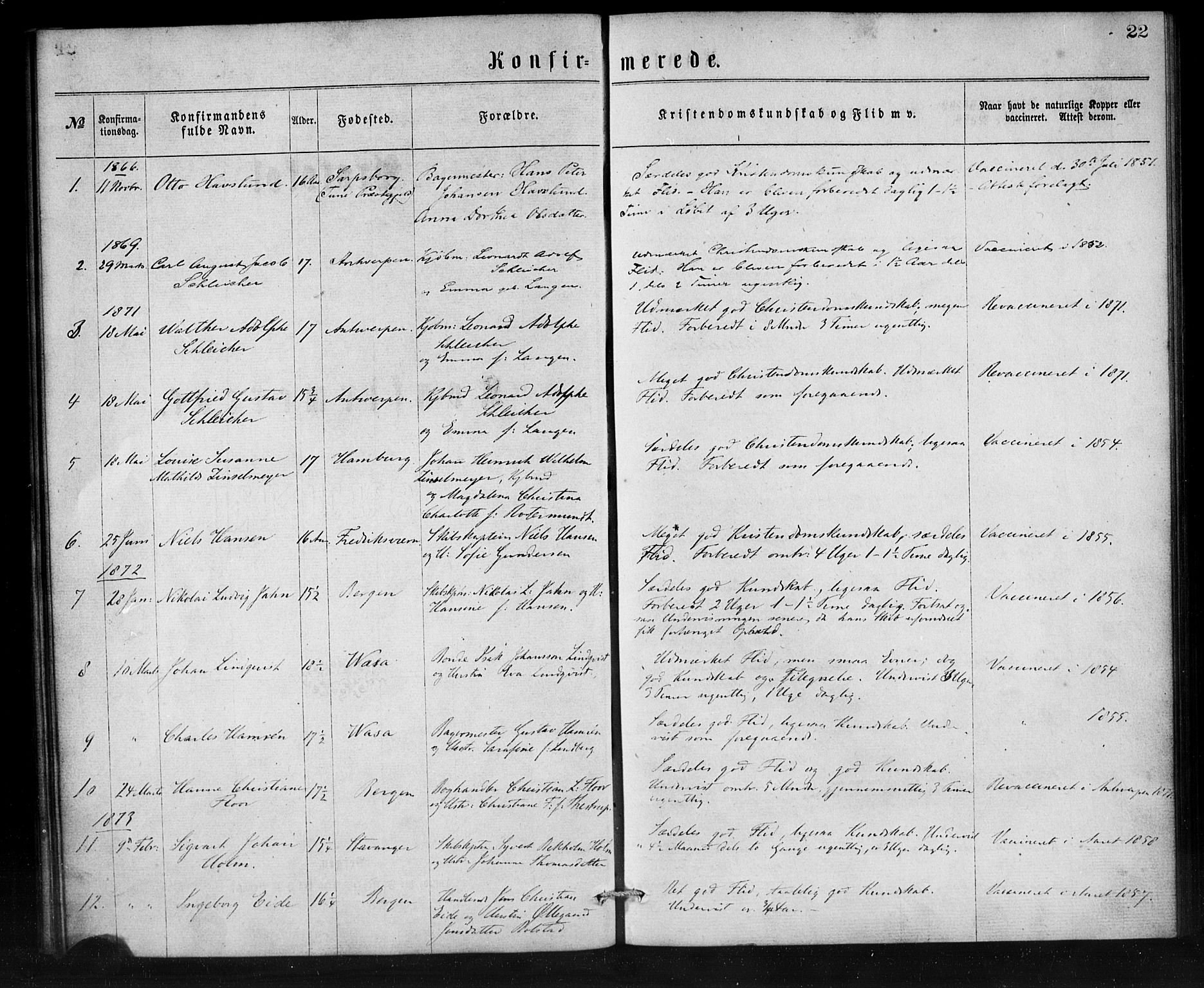 SAB, Den Norske Sjømannsmisjon i utlandet*, Ministerialbok nr. A 1, 1865-1887, s. 22