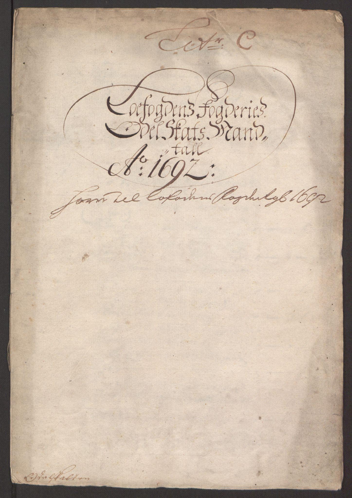 RA, Rentekammeret inntil 1814, Reviderte regnskaper, Fogderegnskap, R67/L4675: Fogderegnskap Vesterålen, Andenes og Lofoten, 1691-1693, s. 139