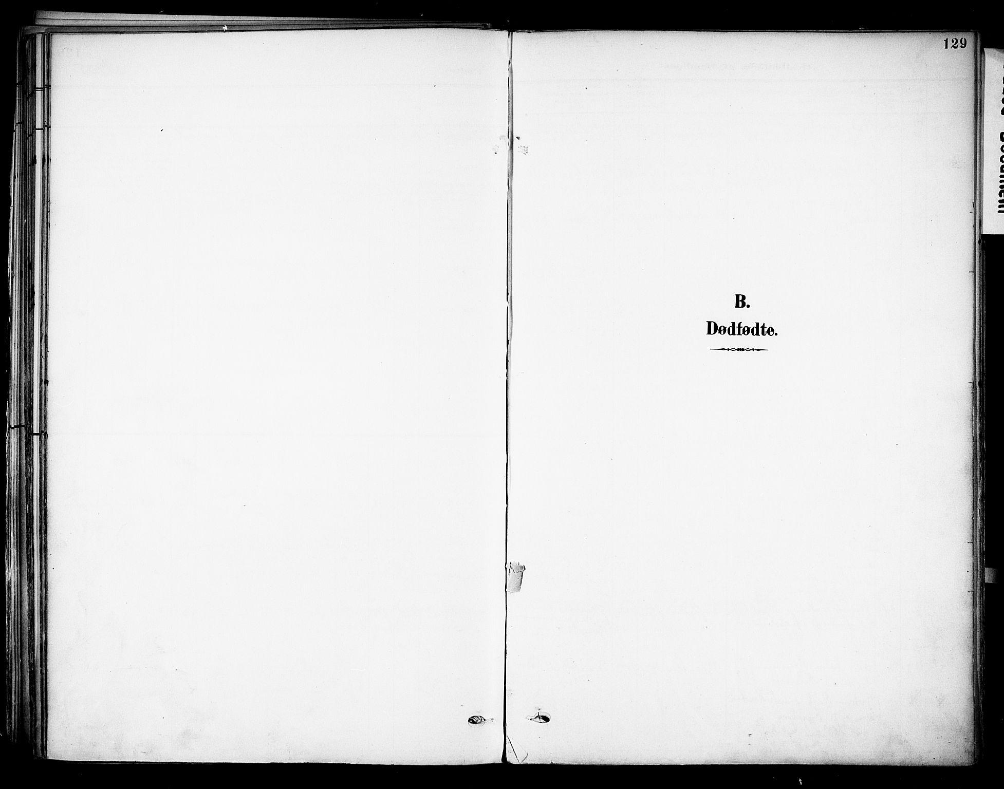 SAKO, Solum kirkebøker, F/Fa/L0011: Ministerialbok nr. I 11, 1898-1909, s. 129