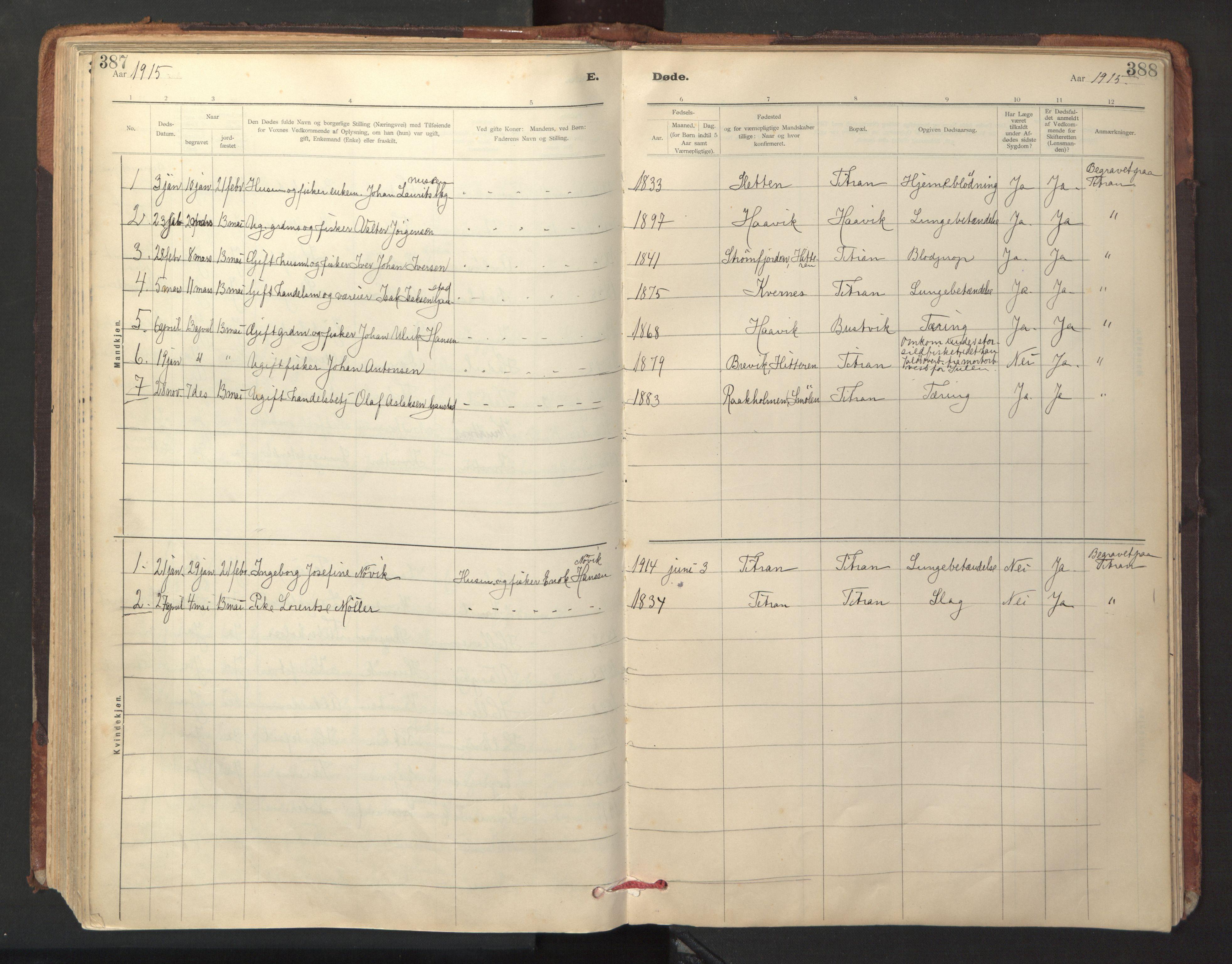 SAT, Ministerialprotokoller, klokkerbøker og fødselsregistre - Sør-Trøndelag, 641/L0596: Ministerialbok nr. 641A02, 1898-1915, s. 387-388