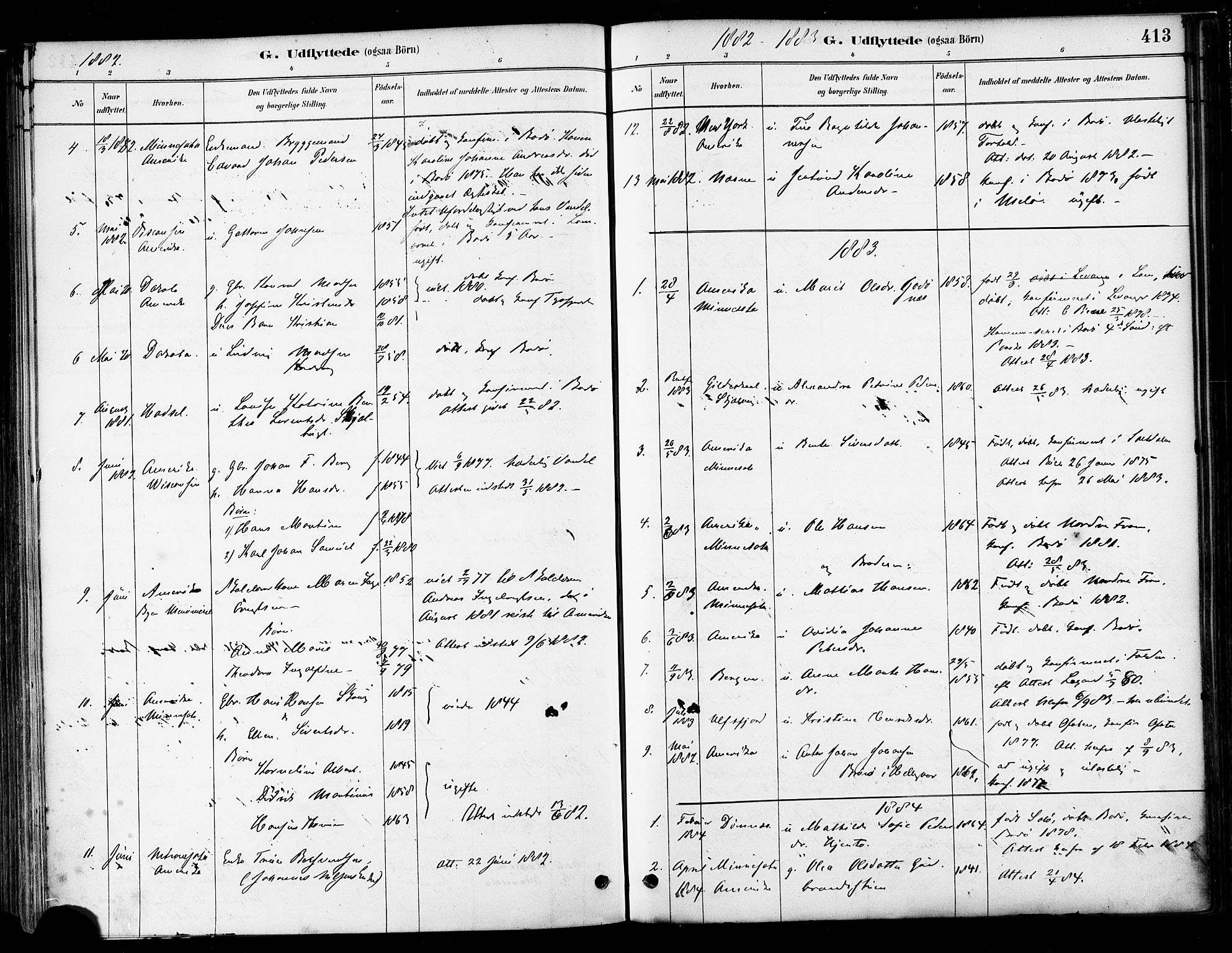 SAT, Ministerialprotokoller, klokkerbøker og fødselsregistre - Nordland, 802/L0054: Ministerialbok nr. 802A01, 1879-1893, s. 413
