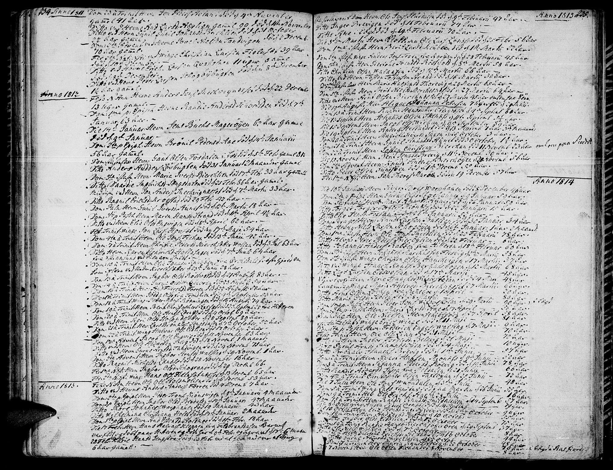 SAT, Ministerialprotokoller, klokkerbøker og fødselsregistre - Sør-Trøndelag, 630/L0490: Ministerialbok nr. 630A03, 1795-1818, s. 234-235