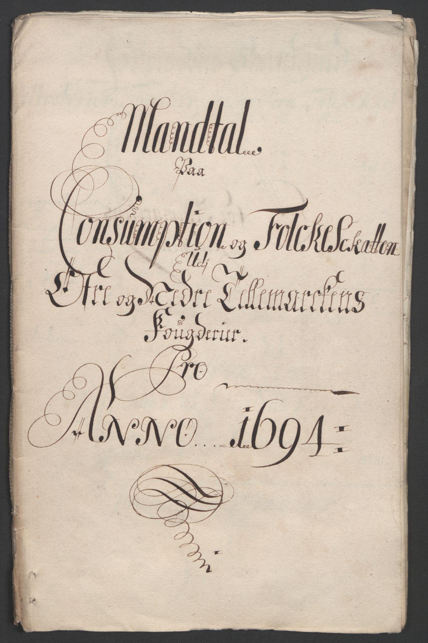 RA, Rentekammeret inntil 1814, Reviderte regnskaper, Fogderegnskap, R36/L2092: Fogderegnskap Øvre og Nedre Telemark og Bamble, 1694, s. 59