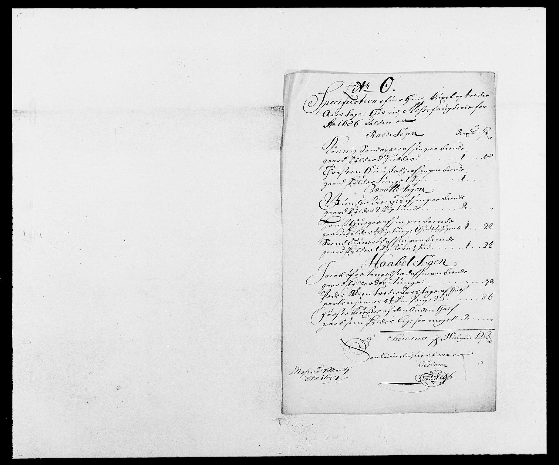 RA, Rentekammeret inntil 1814, Reviderte regnskaper, Fogderegnskap, R02/L0105: Fogderegnskap Moss og Verne kloster, 1685-1687, s. 178