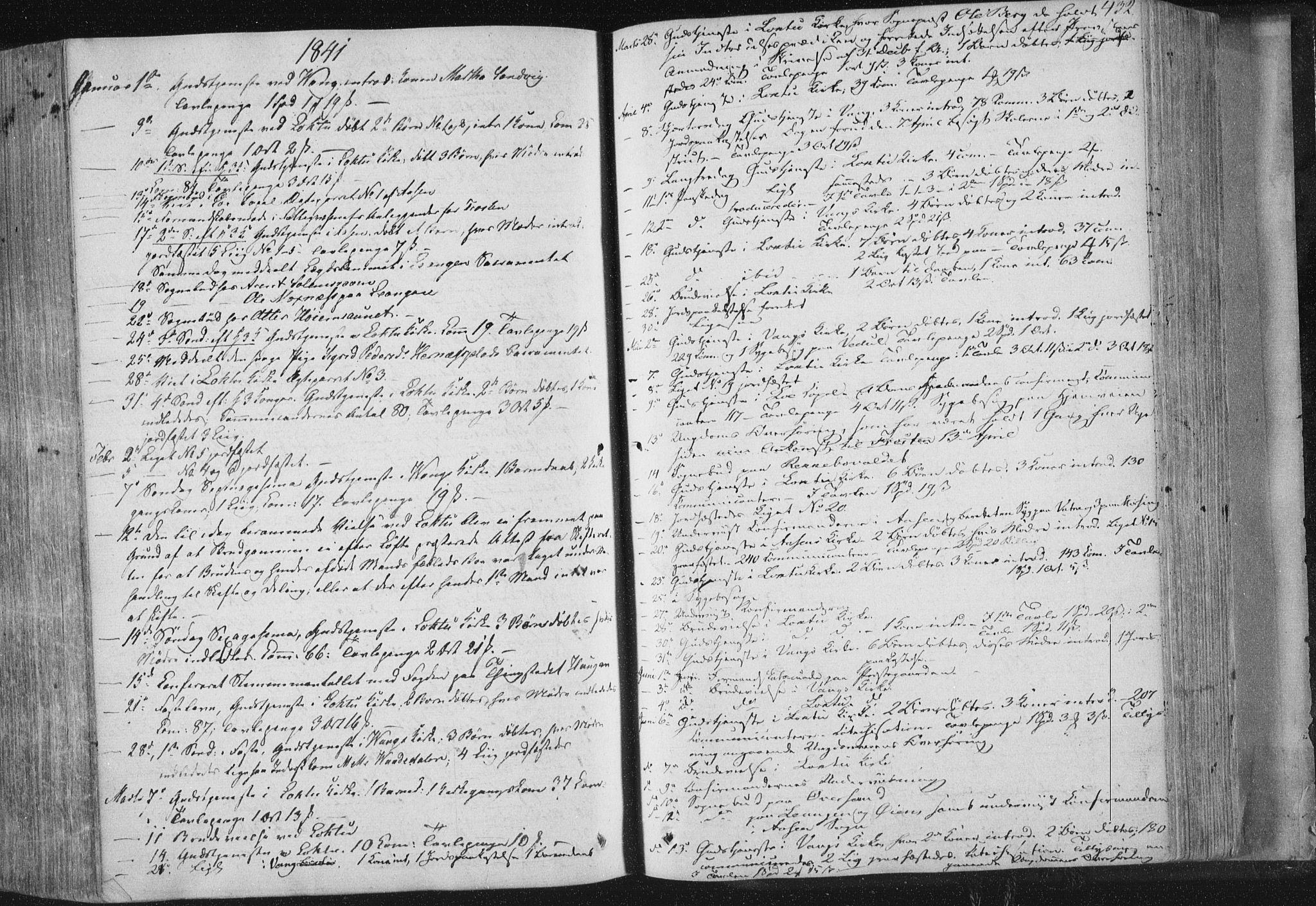 SAT, Ministerialprotokoller, klokkerbøker og fødselsregistre - Nord-Trøndelag, 713/L0115: Ministerialbok nr. 713A06, 1838-1851, s. 432