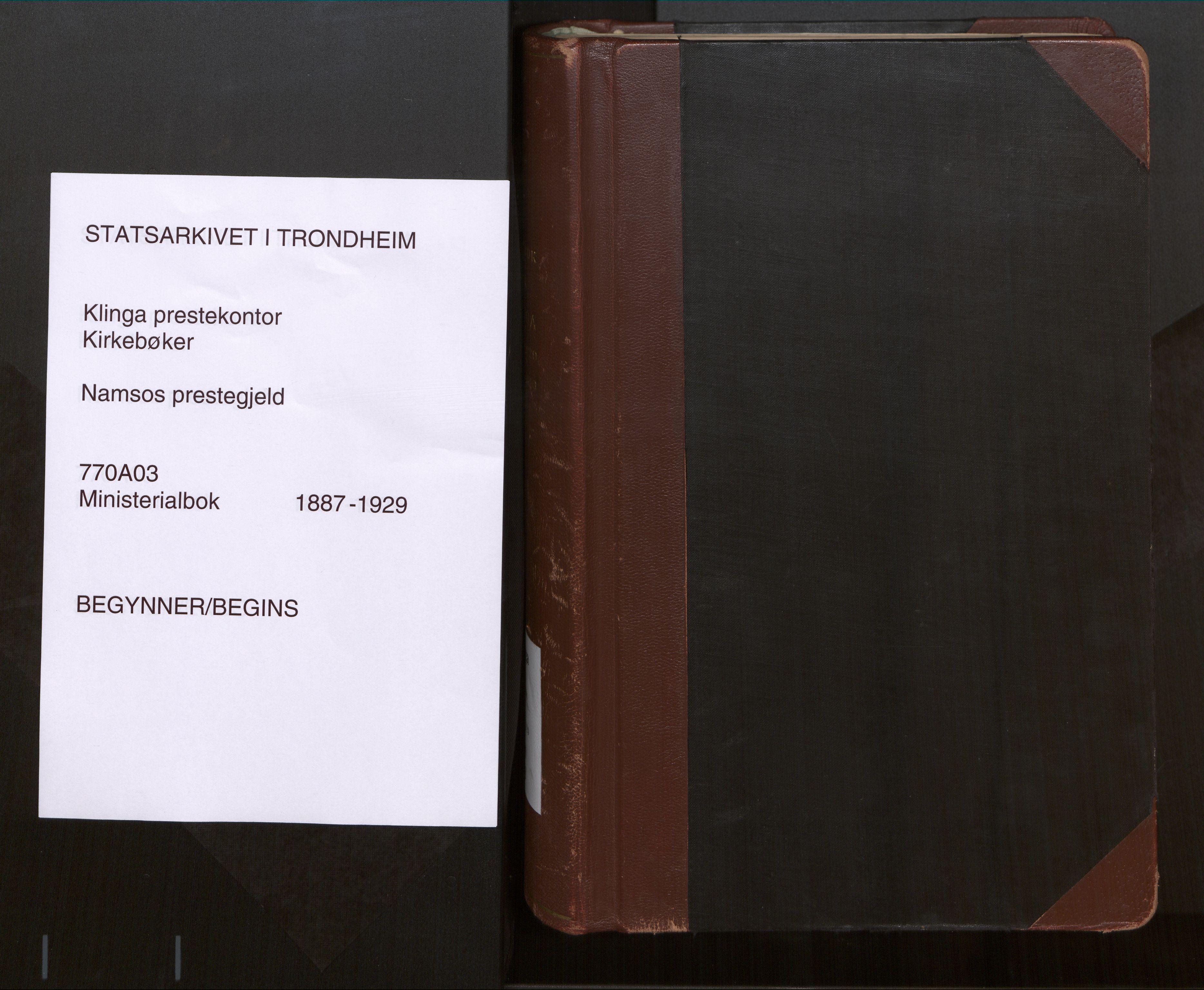 SAT, Ministerialprotokoller, klokkerbøker og fødselsregistre - Nord-Trøndelag, 770/L0589: Ministerialbok nr. 770A03, 1887-1929
