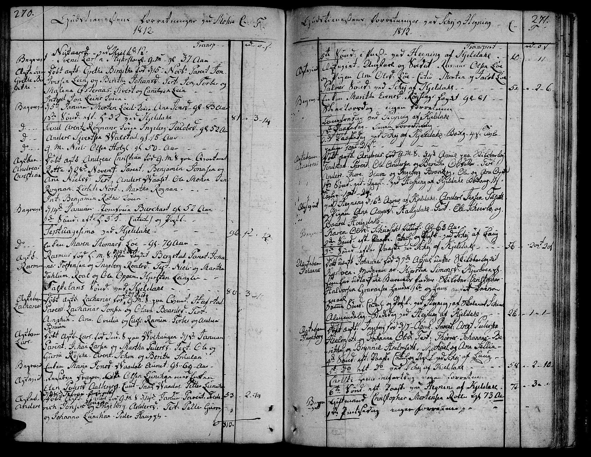 SAT, Ministerialprotokoller, klokkerbøker og fødselsregistre - Nord-Trøndelag, 735/L0332: Ministerialbok nr. 735A03, 1795-1816, s. 270-271