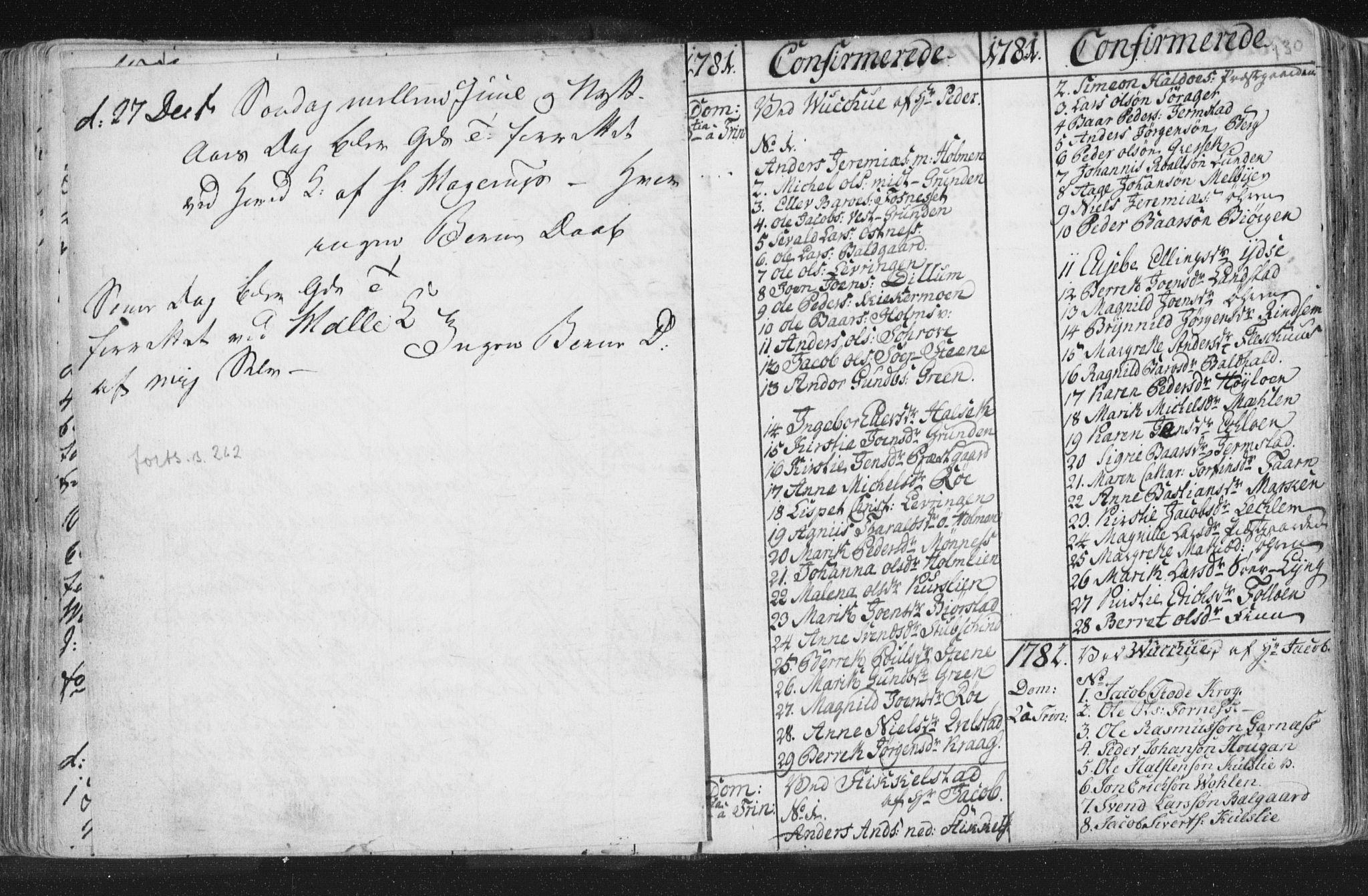 SAT, Ministerialprotokoller, klokkerbøker og fødselsregistre - Nord-Trøndelag, 723/L0232: Ministerialbok nr. 723A03, 1781-1804, s. 130