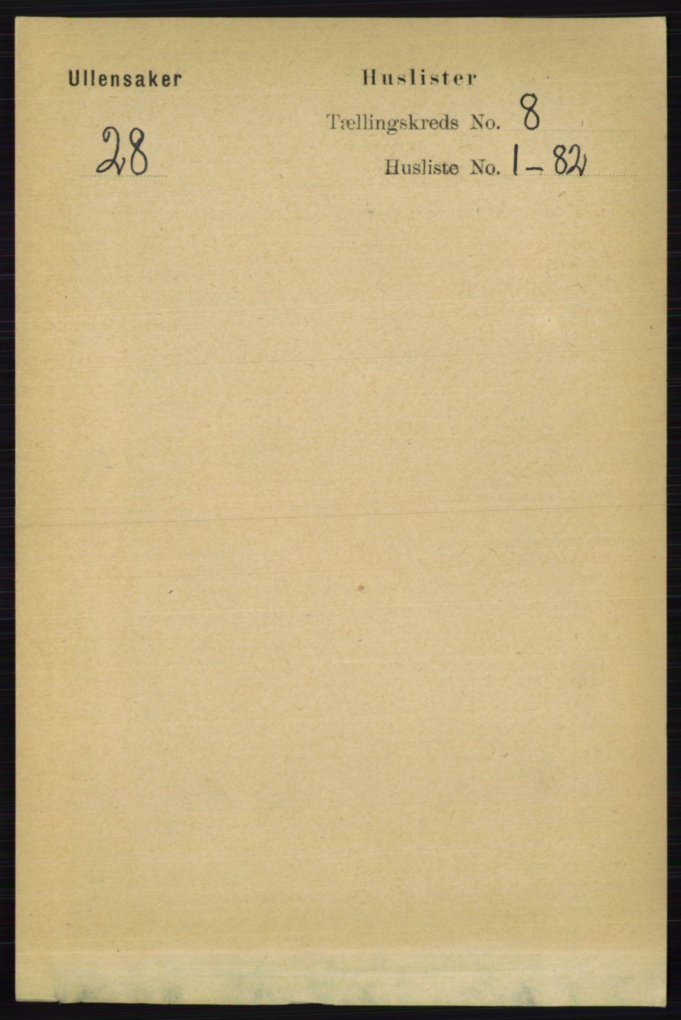 RA, Folketelling 1891 for 0235 Ullensaker herred, 1891, s. 3462