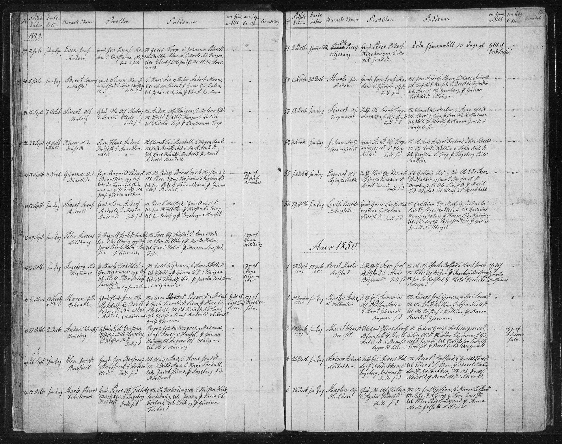 SAT, Ministerialprotokoller, klokkerbøker og fødselsregistre - Sør-Trøndelag, 616/L0406: Ministerialbok nr. 616A03, 1843-1879, s. 18