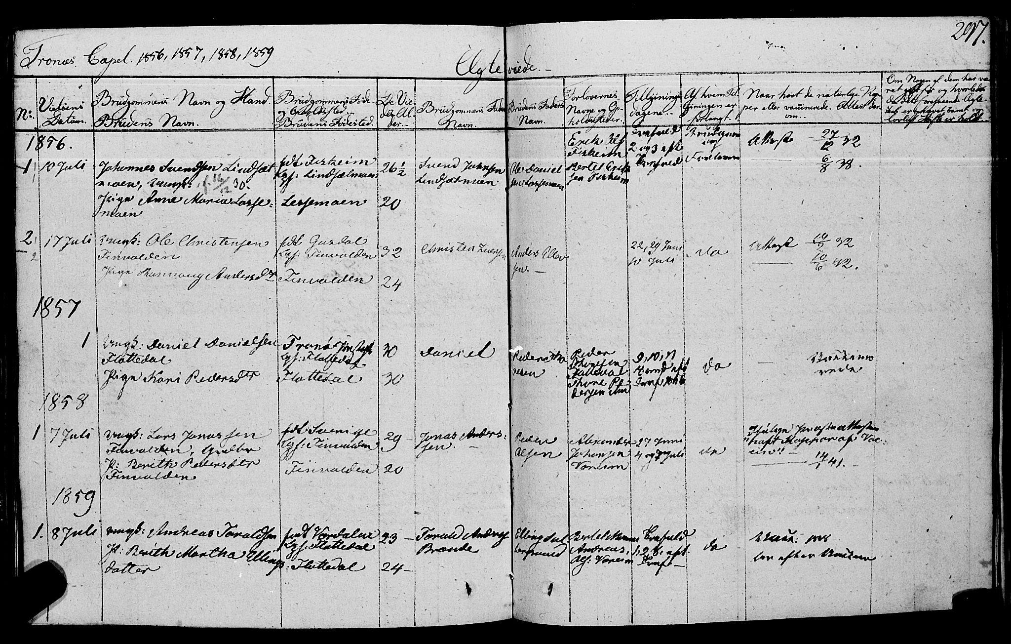 SAT, Ministerialprotokoller, klokkerbøker og fødselsregistre - Nord-Trøndelag, 762/L0538: Ministerialbok nr. 762A02 /2, 1833-1879, s. 297