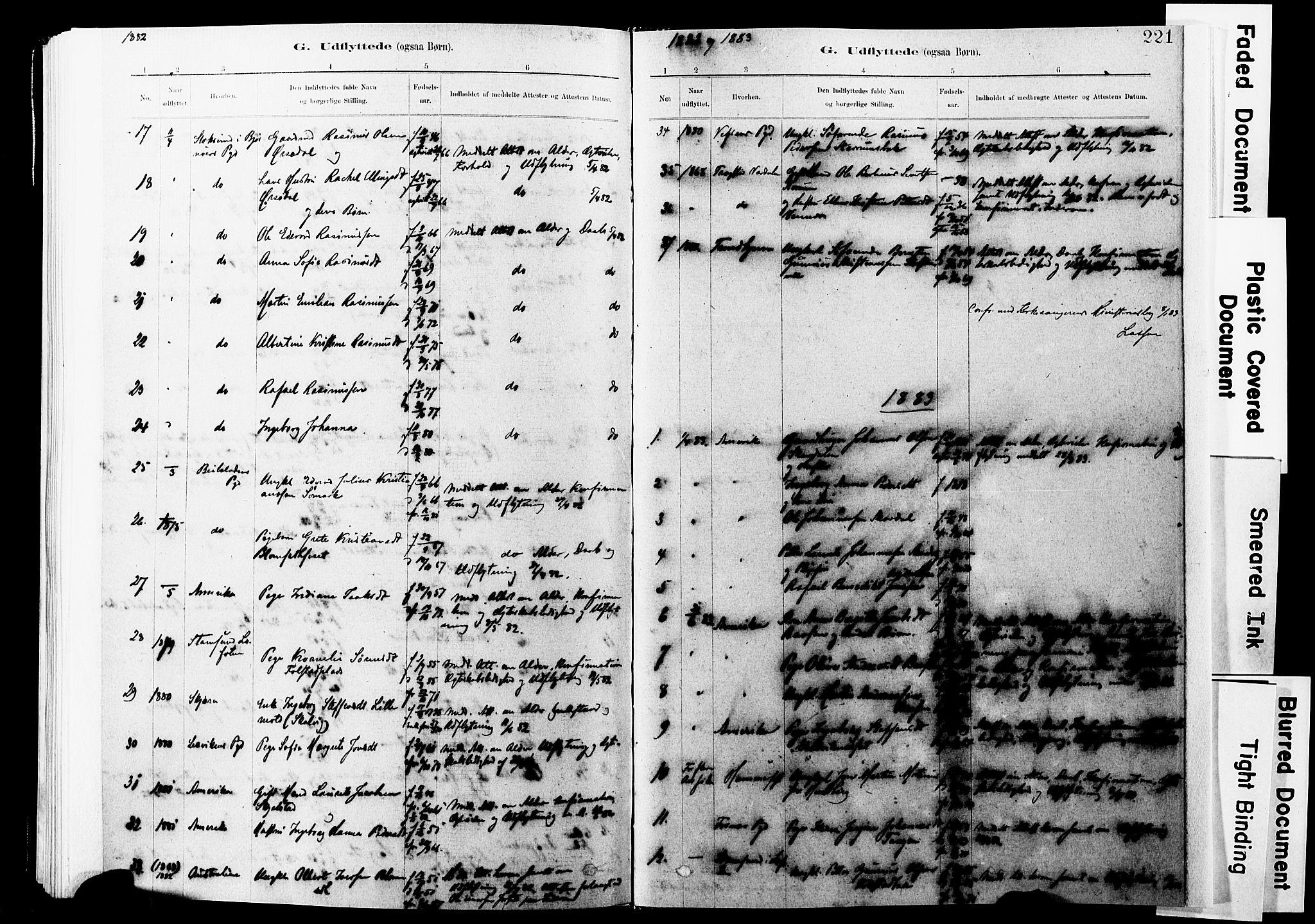 SAT, Ministerialprotokoller, klokkerbøker og fødselsregistre - Nord-Trøndelag, 744/L0420: Ministerialbok nr. 744A04, 1882-1904, s. 221