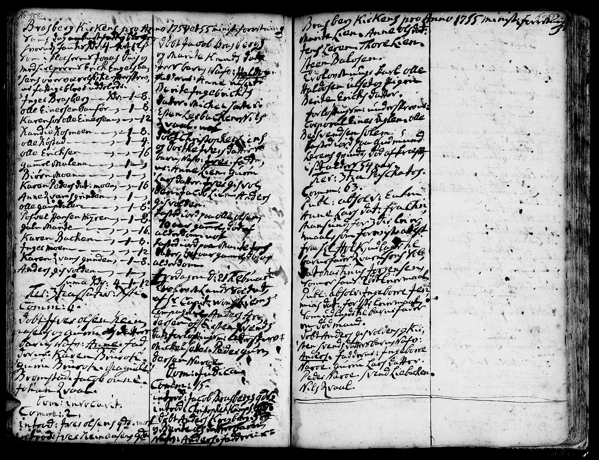 SAT, Ministerialprotokoller, klokkerbøker og fødselsregistre - Sør-Trøndelag, 606/L0278: Ministerialbok nr. 606A01 /4, 1727-1780, s. 558-559