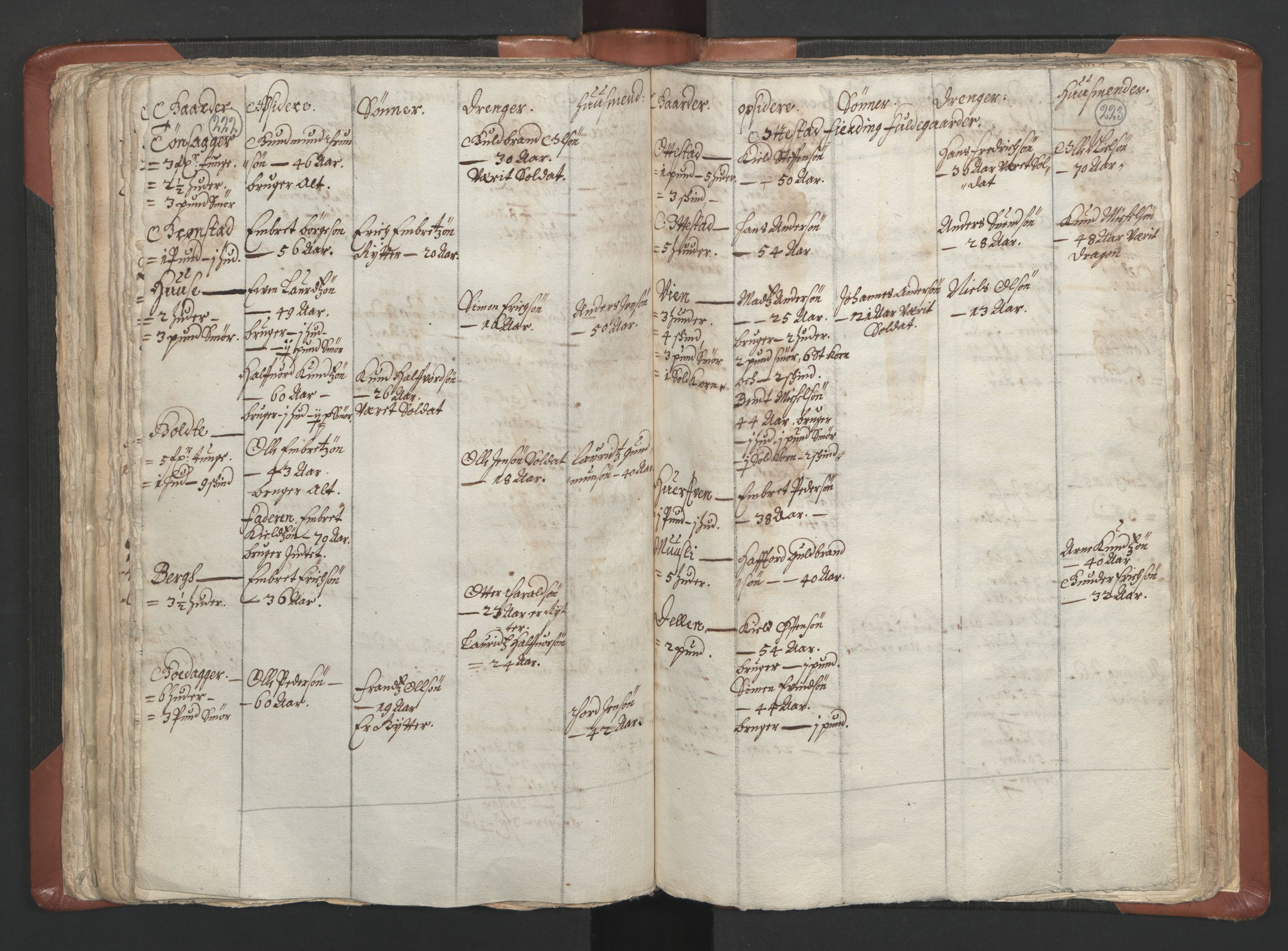 RA, Sogneprestenes manntall 1664-1666, nr. 5: Hedmark prosti, 1664-1666, s. 222-223