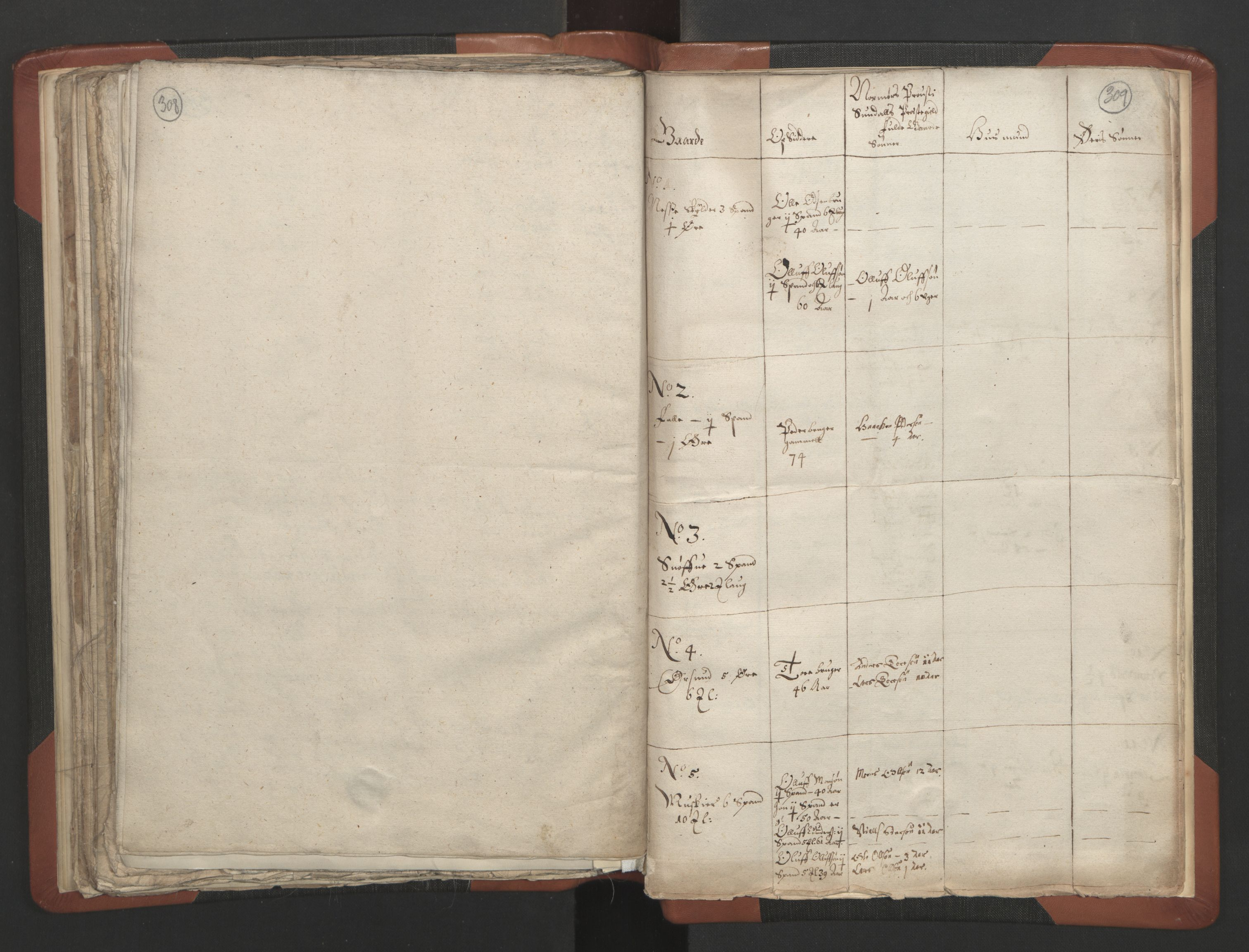 RA, Sogneprestenes manntall 1664-1666, nr. 28: Nordmøre prosti, 1664-1666, s. 308-309