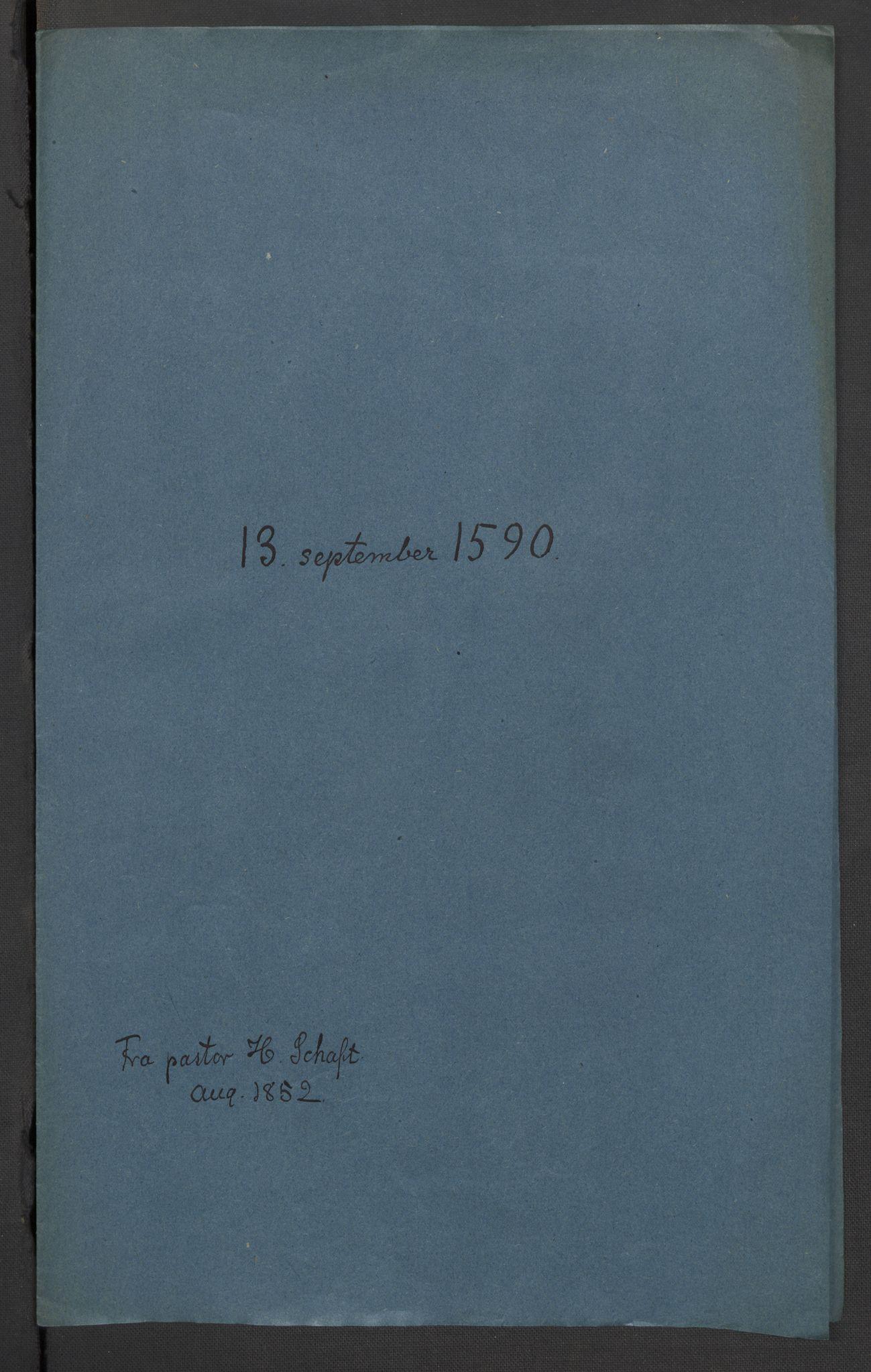 RA, Riksarkivets diplomsamling, F02/L0092: Dokumenter, 1590, s. 16