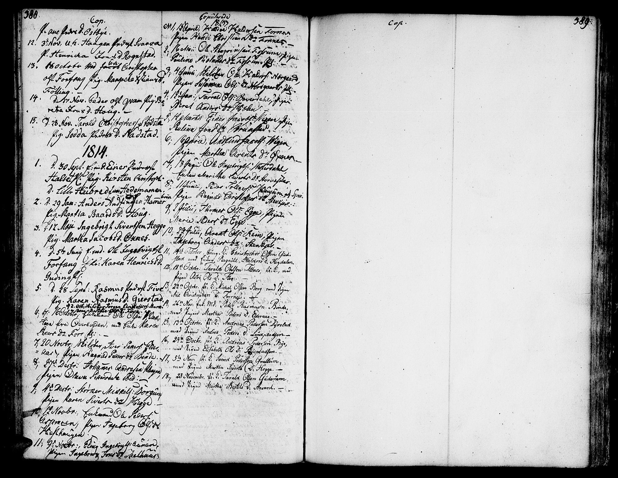 SAT, Ministerialprotokoller, klokkerbøker og fødselsregistre - Nord-Trøndelag, 746/L0440: Ministerialbok nr. 746A02, 1760-1815, s. 388-389