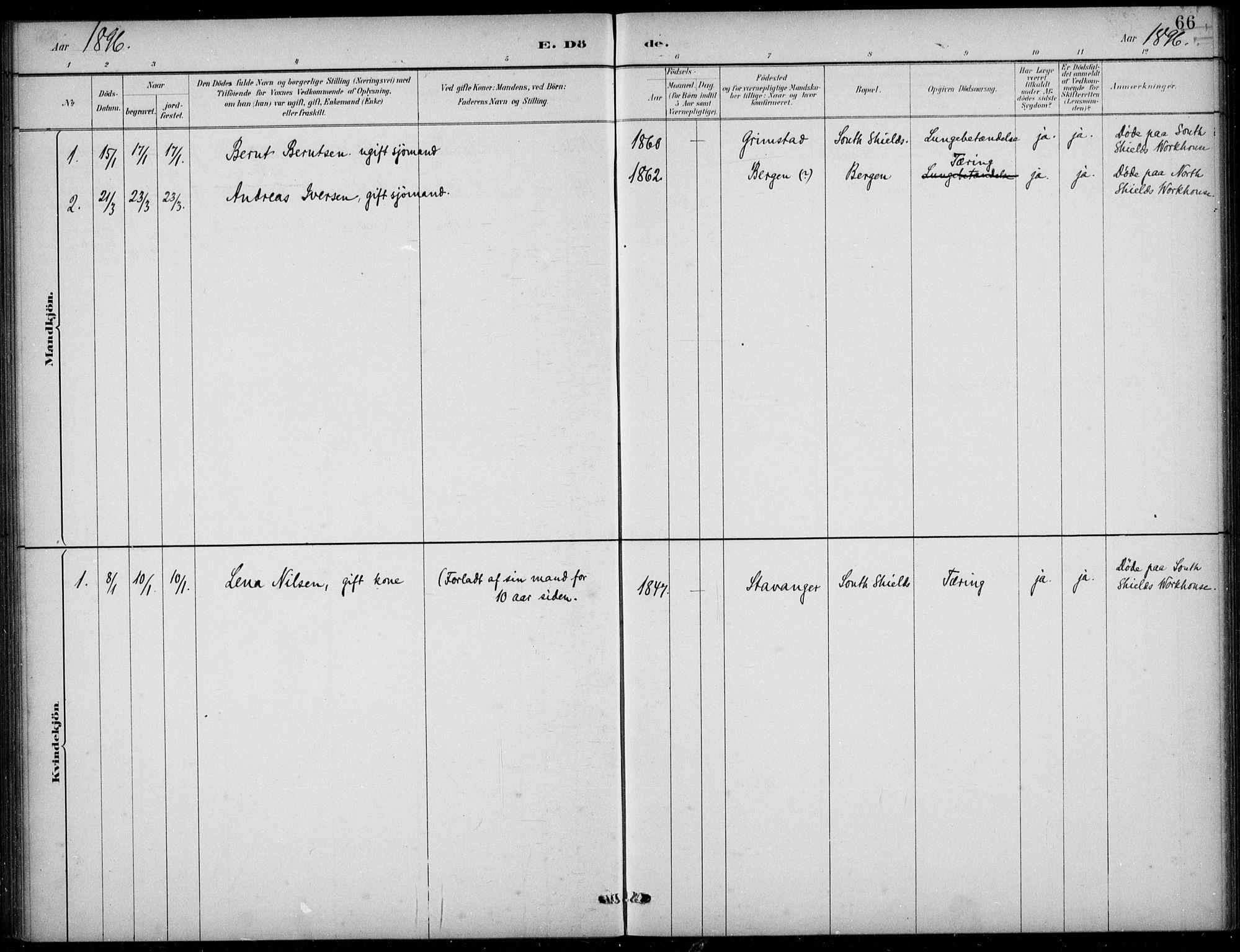 SAB, Den Norske Sjømannsmisjon i utlandet*, Ministerialbok nr. A 2, 1883-1936, s. 66