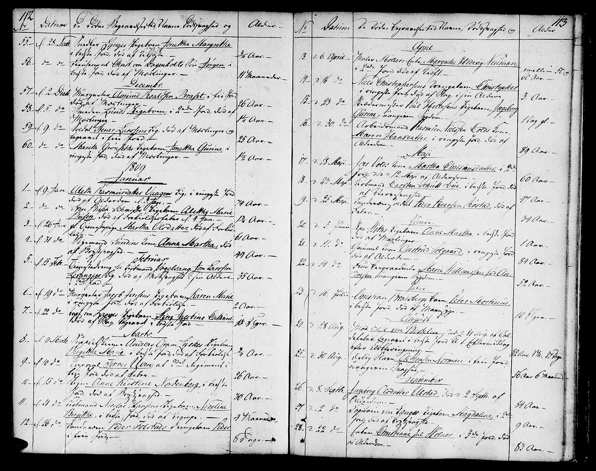 SAT, Ministerialprotokoller, klokkerbøker og fødselsregistre - Sør-Trøndelag, 602/L0106: Ministerialbok nr. 602A04, 1774-1814, s. 112-113