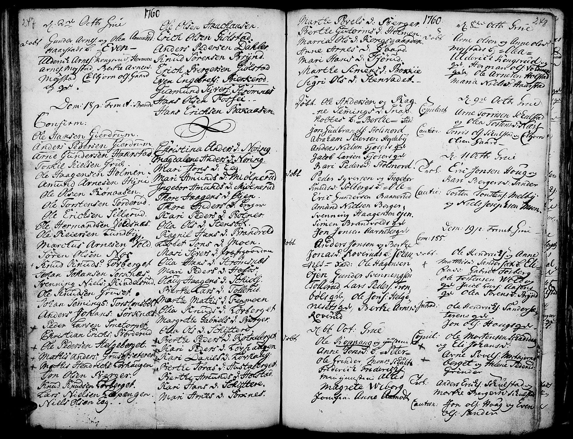 SAH, Grue prestekontor, Ministerialbok nr. 2, 1749-1774, s. 247-248