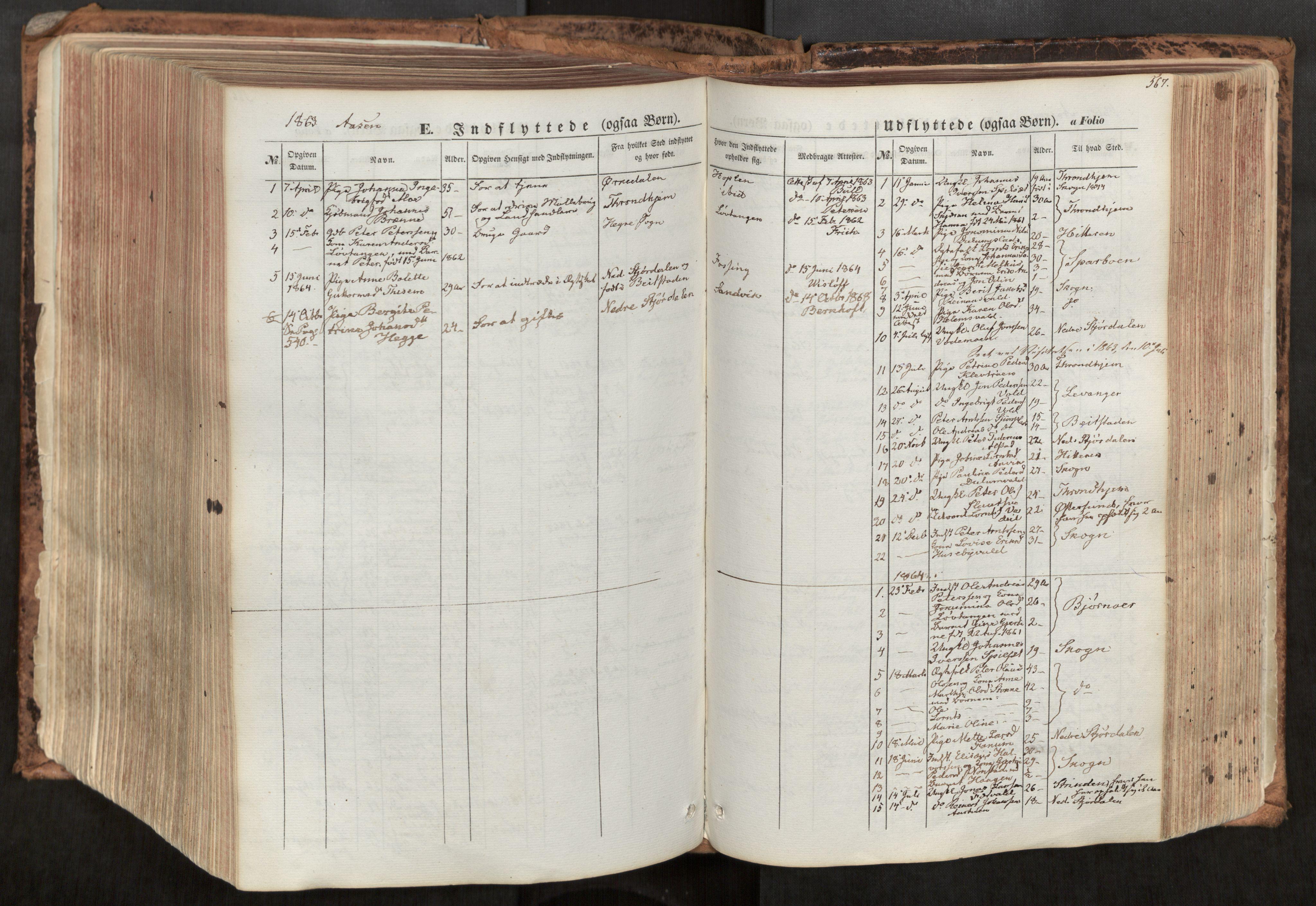 SAT, Ministerialprotokoller, klokkerbøker og fødselsregistre - Nord-Trøndelag, 713/L0116: Ministerialbok nr. 713A07, 1850-1877, s. 567