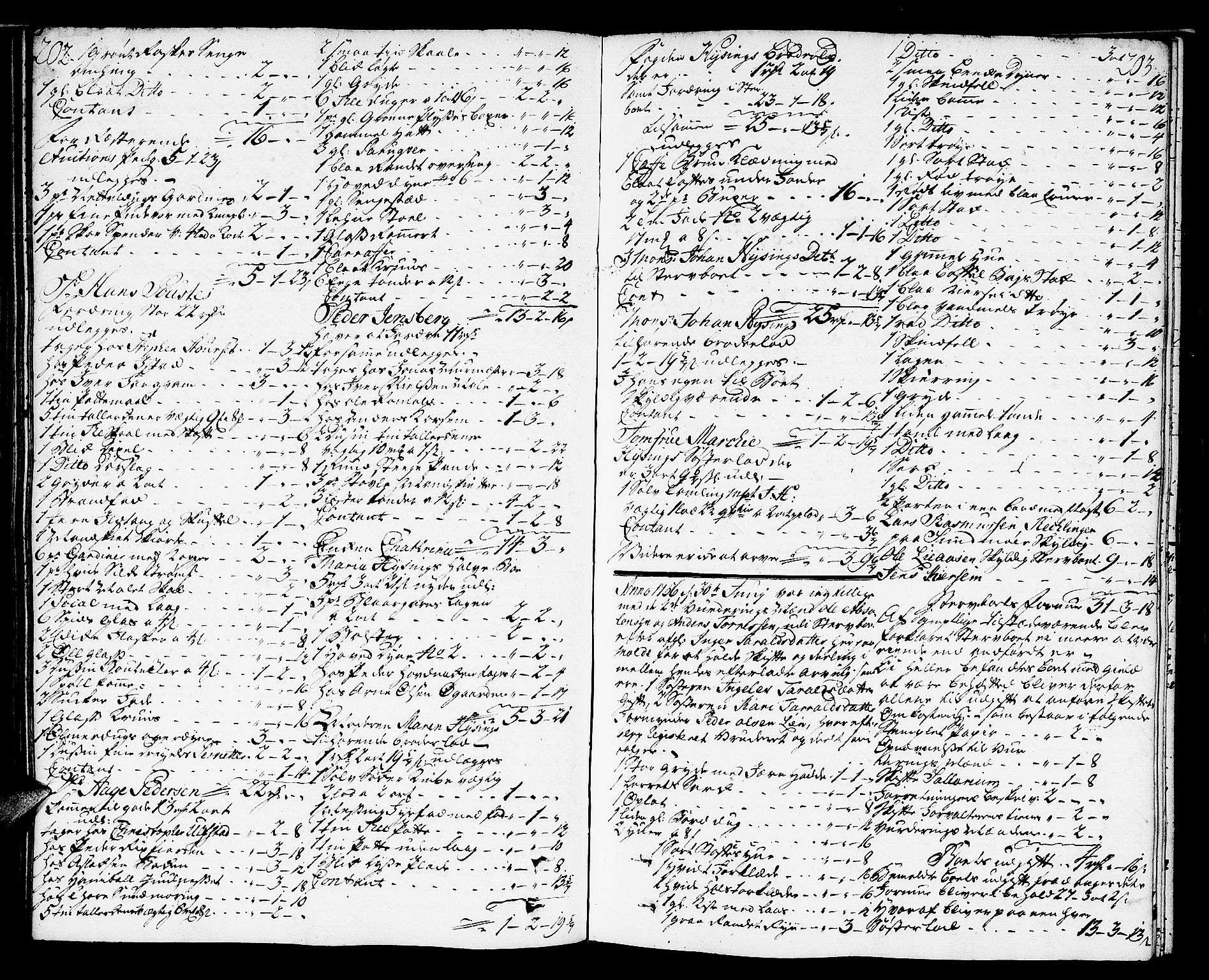 SAT, Molde byfogd, 3Aa/L0001: Skifteprotokoll, 1748-1768, s. 202-203