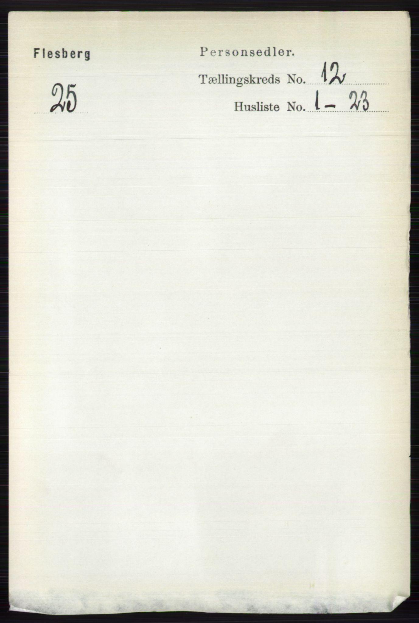 RA, Folketelling 1891 for 0631 Flesberg herred, 1891, s. 2095