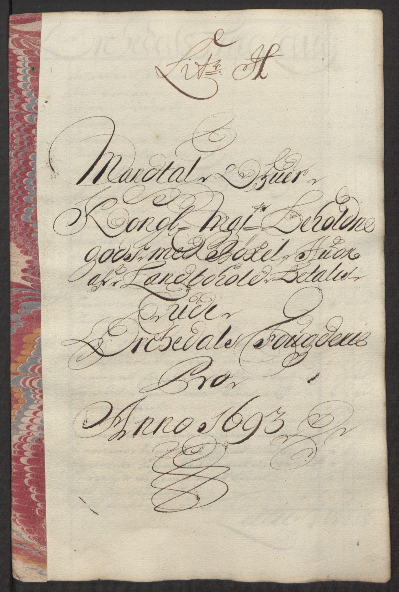 RA, Rentekammeret inntil 1814, Reviderte regnskaper, Fogderegnskap, R58/L3938: Fogderegnskap Orkdal, 1693, s. 133