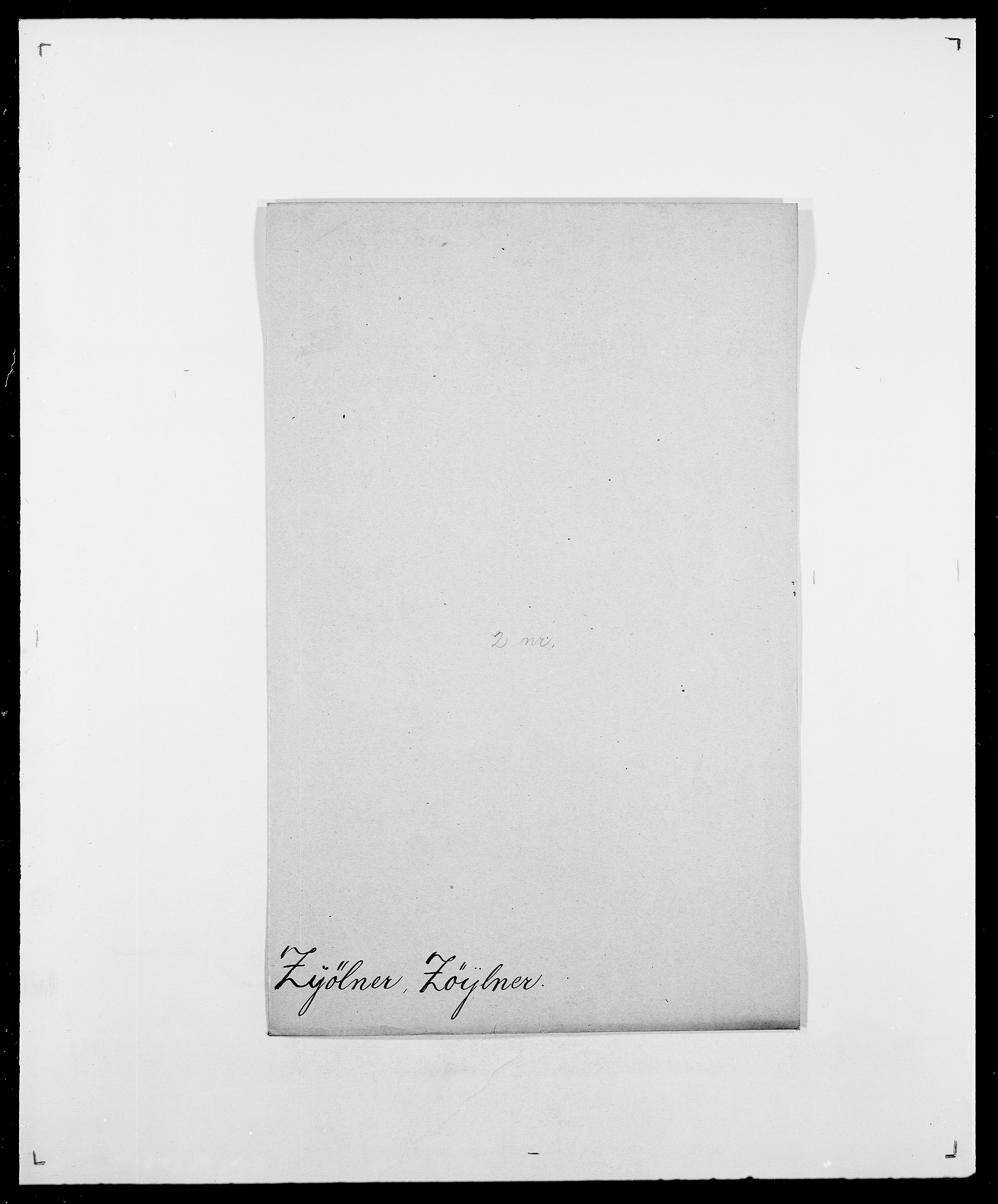 SAO, Delgobe, Charles Antoine - samling, D/Da/L0043: Wulfsberg - v. Zanten, s. 218