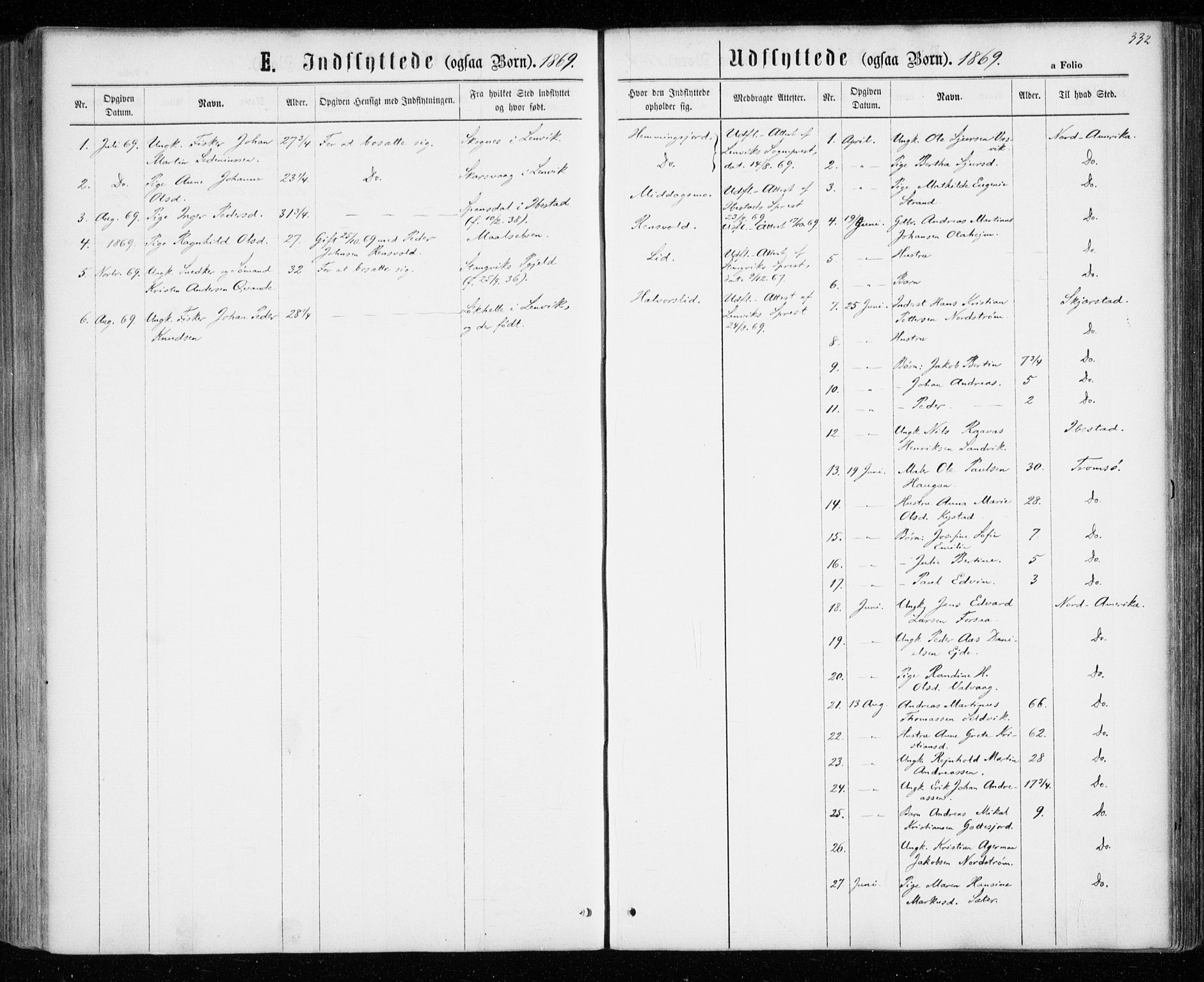 SATØ, Tranøy sokneprestkontor, I/Ia/Iaa/L0008kirke: Ministerialbok nr. 8, 1867-1877, s. 332