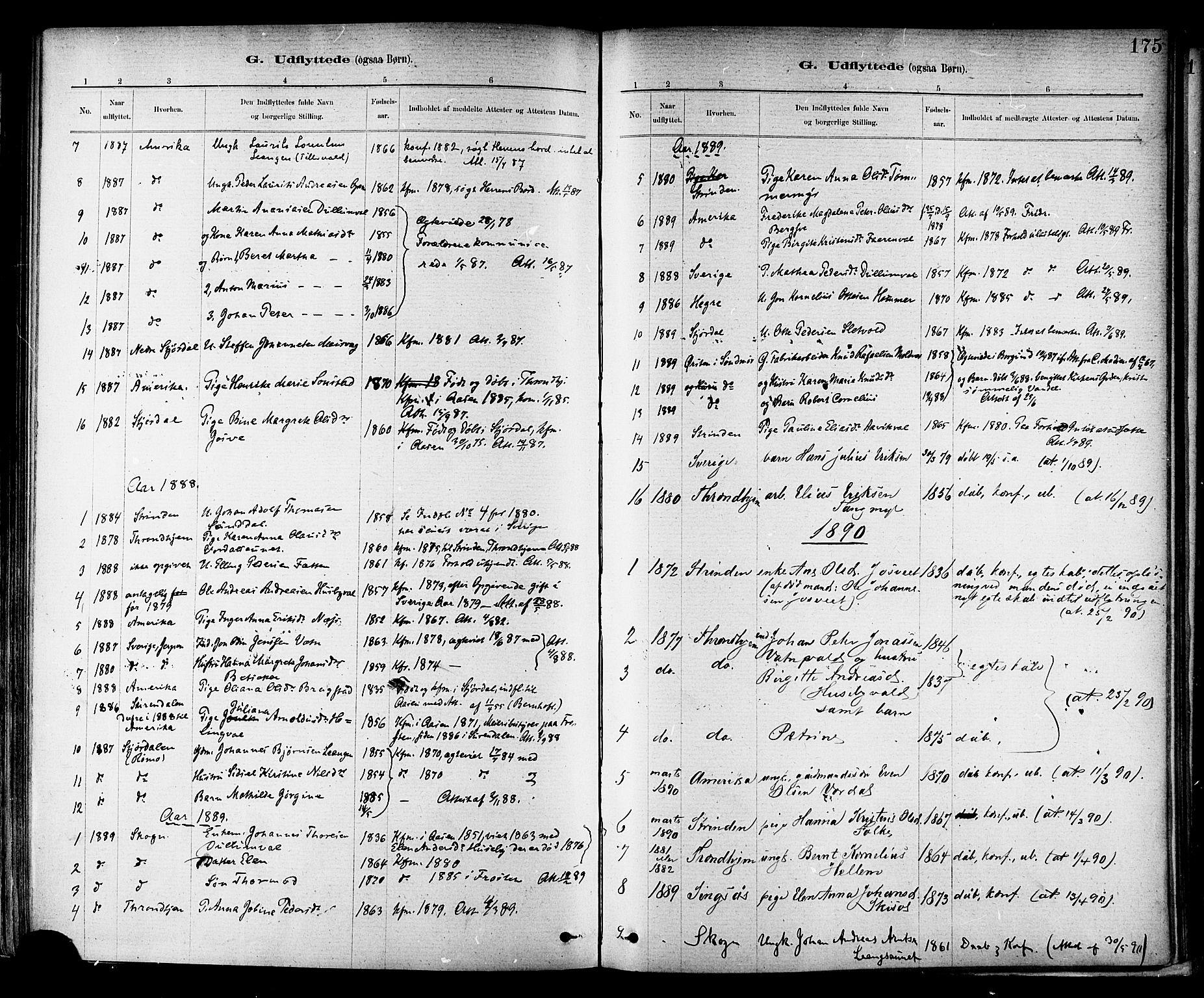SAT, Ministerialprotokoller, klokkerbøker og fødselsregistre - Nord-Trøndelag, 714/L0130: Ministerialbok nr. 714A01, 1878-1895, s. 175