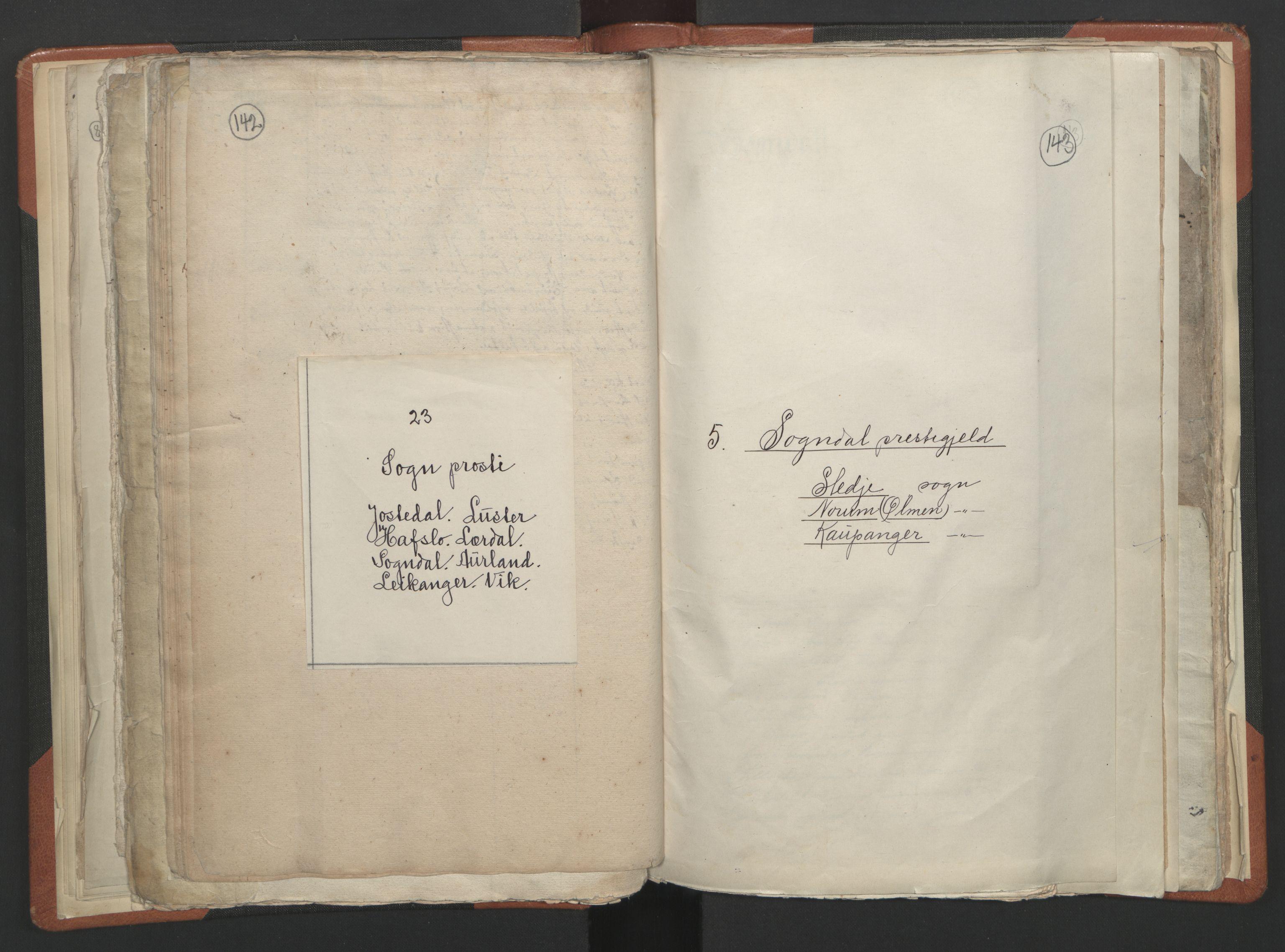 RA, Sogneprestenes manntall 1664-1666, nr. 23: Sogn prosti, 1664-1666, s. 142-143