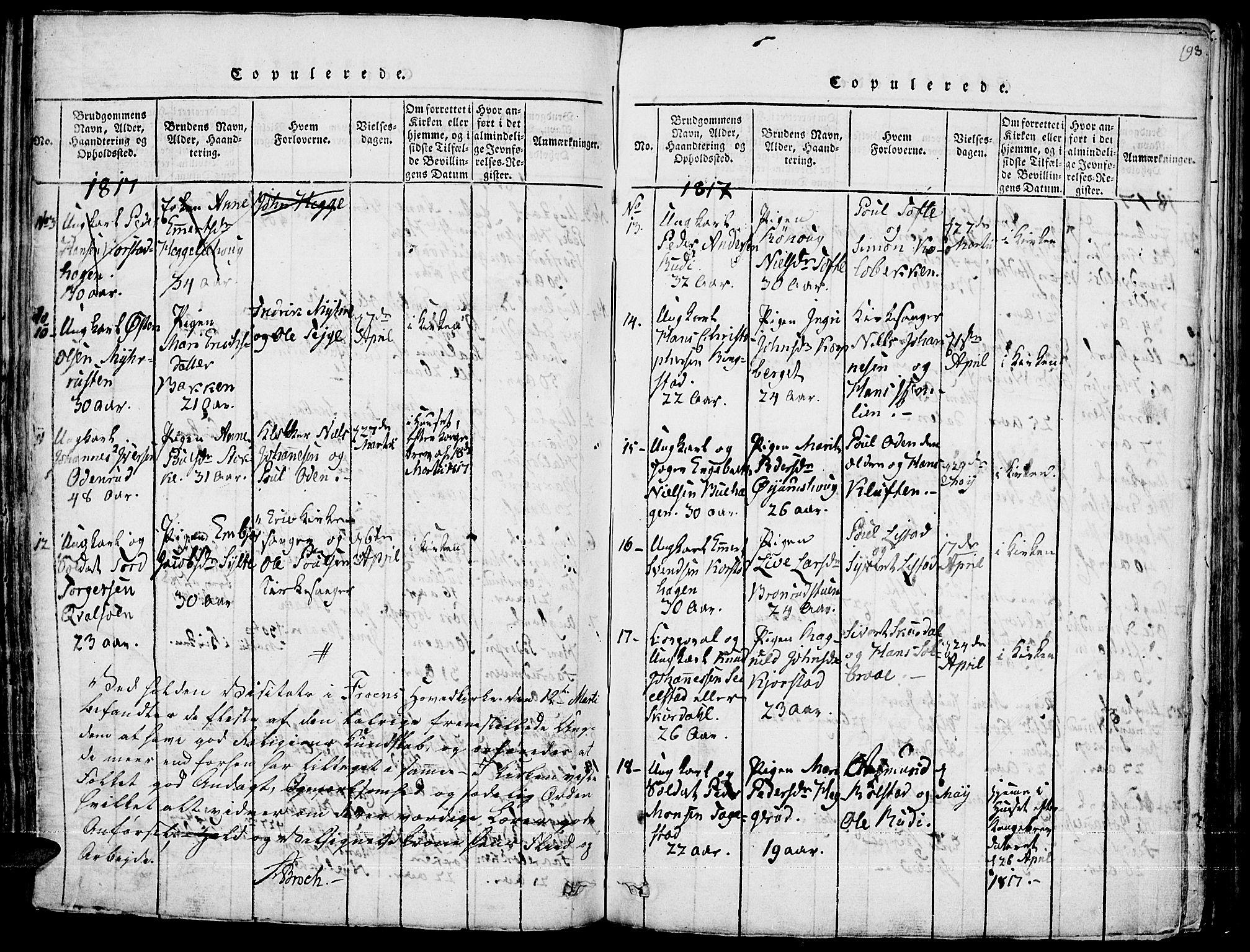 SAH, Fron prestekontor, H/Ha/Haa/L0002: Ministerialbok nr. 2, 1816-1827, s. 198