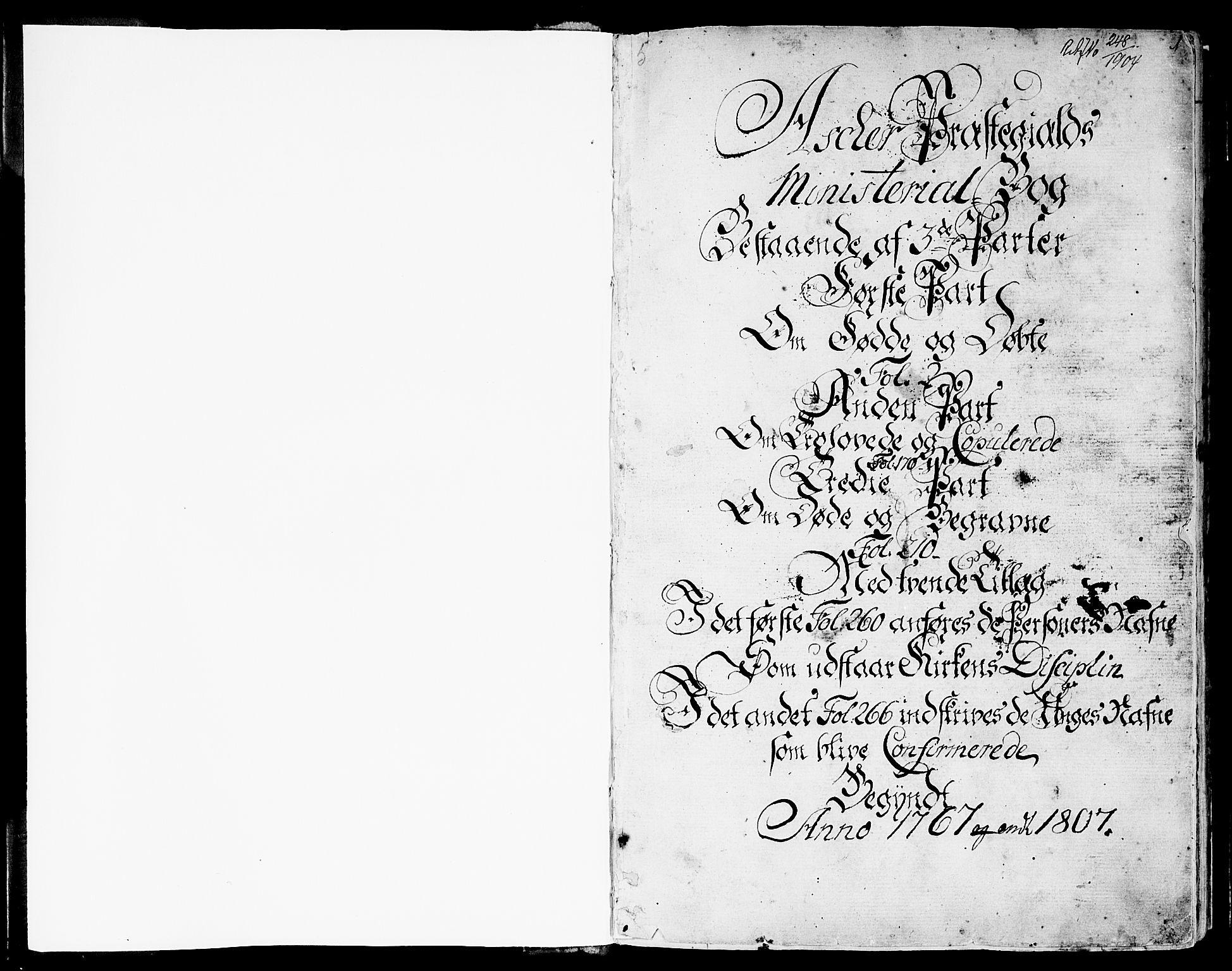 SAO, Asker prestekontor Kirkebøker, F/Fa/L0003: Ministerialbok nr. I 3, 1767-1807, s. 1