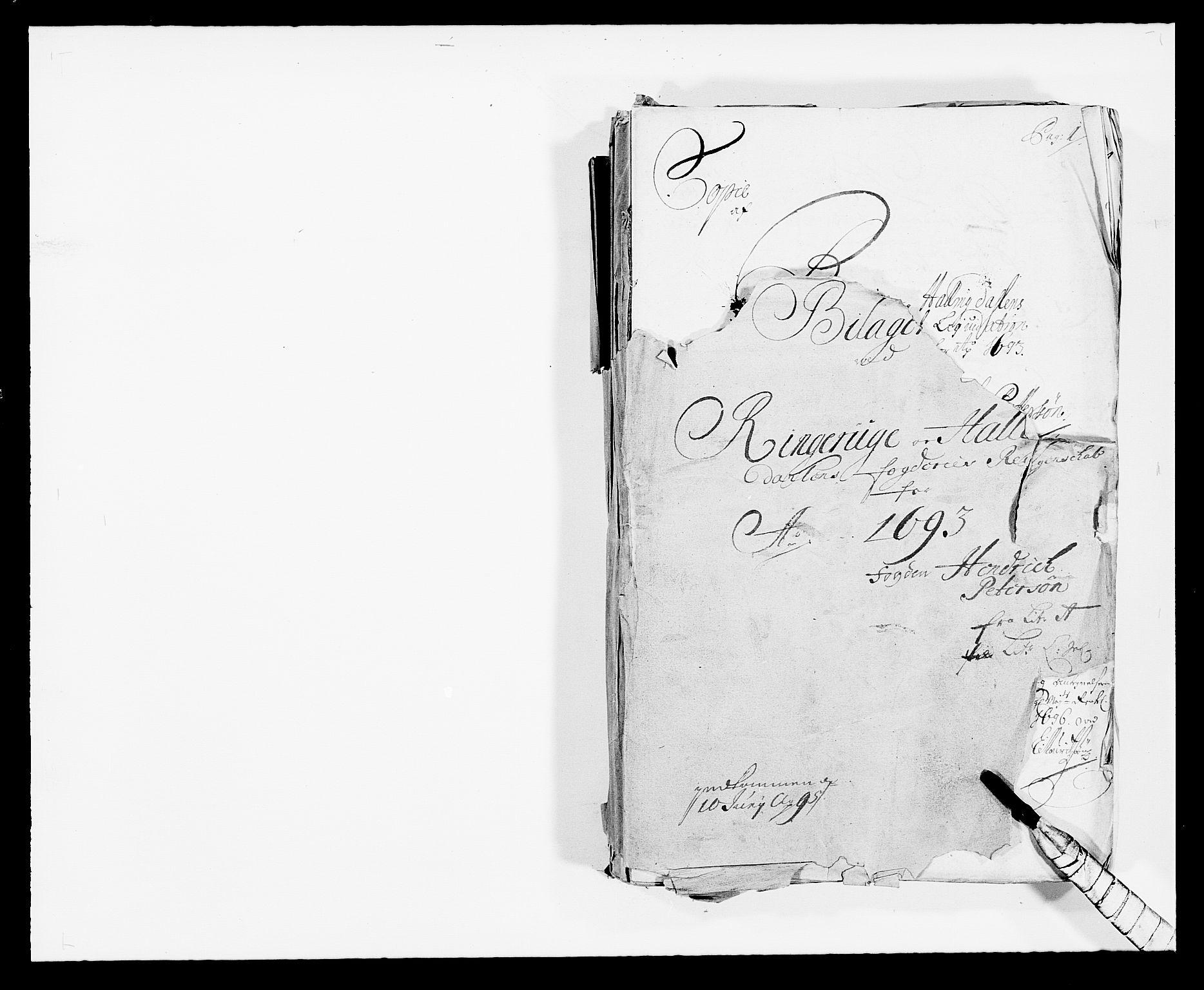 RA, Rentekammeret inntil 1814, Reviderte regnskaper, Fogderegnskap, R21/L1450: Fogderegnskap Ringerike og Hallingdal, 1693, s. 1