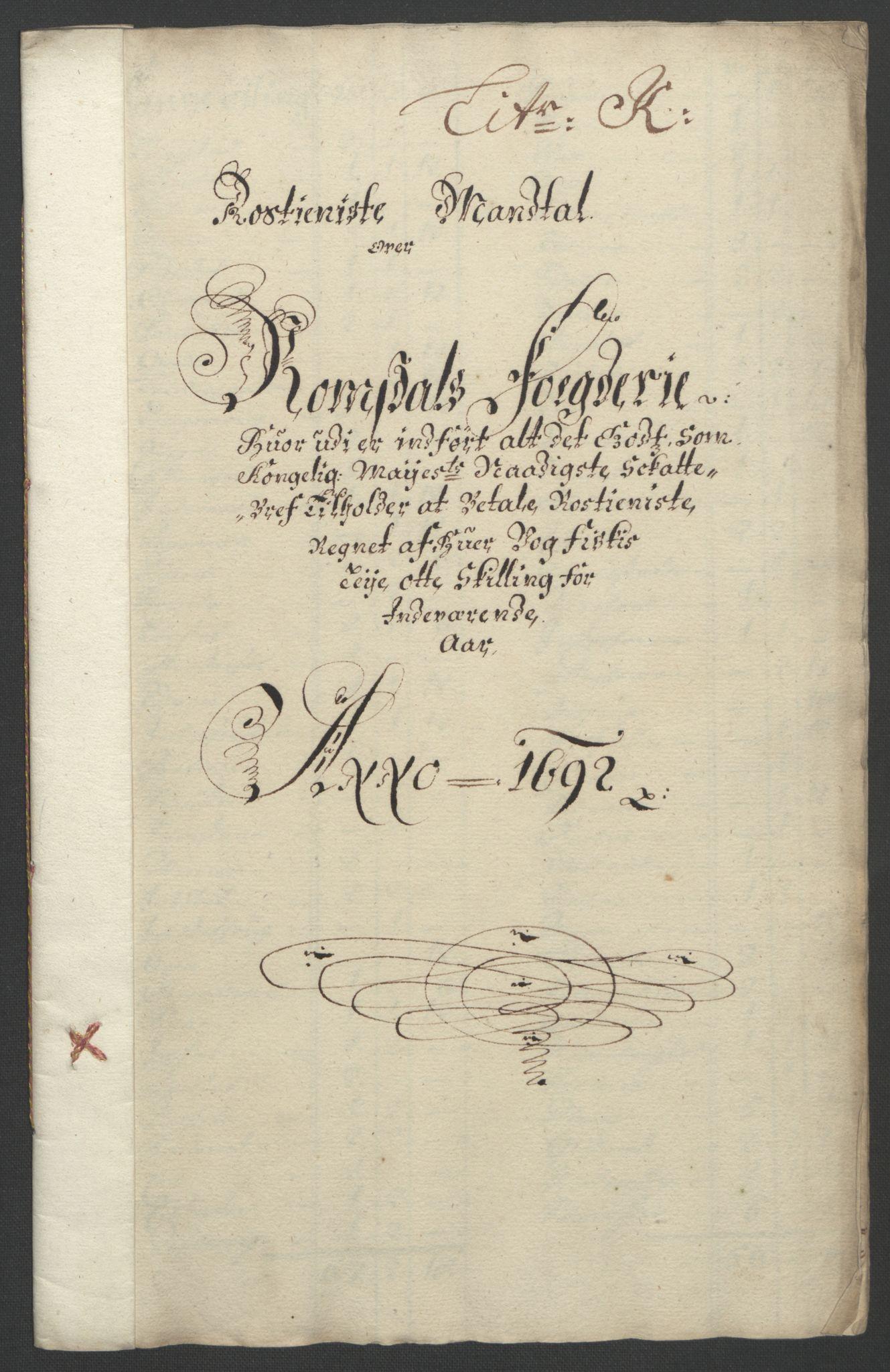RA, Rentekammeret inntil 1814, Reviderte regnskaper, Fogderegnskap, R55/L3650: Fogderegnskap Romsdal, 1692, s. 128