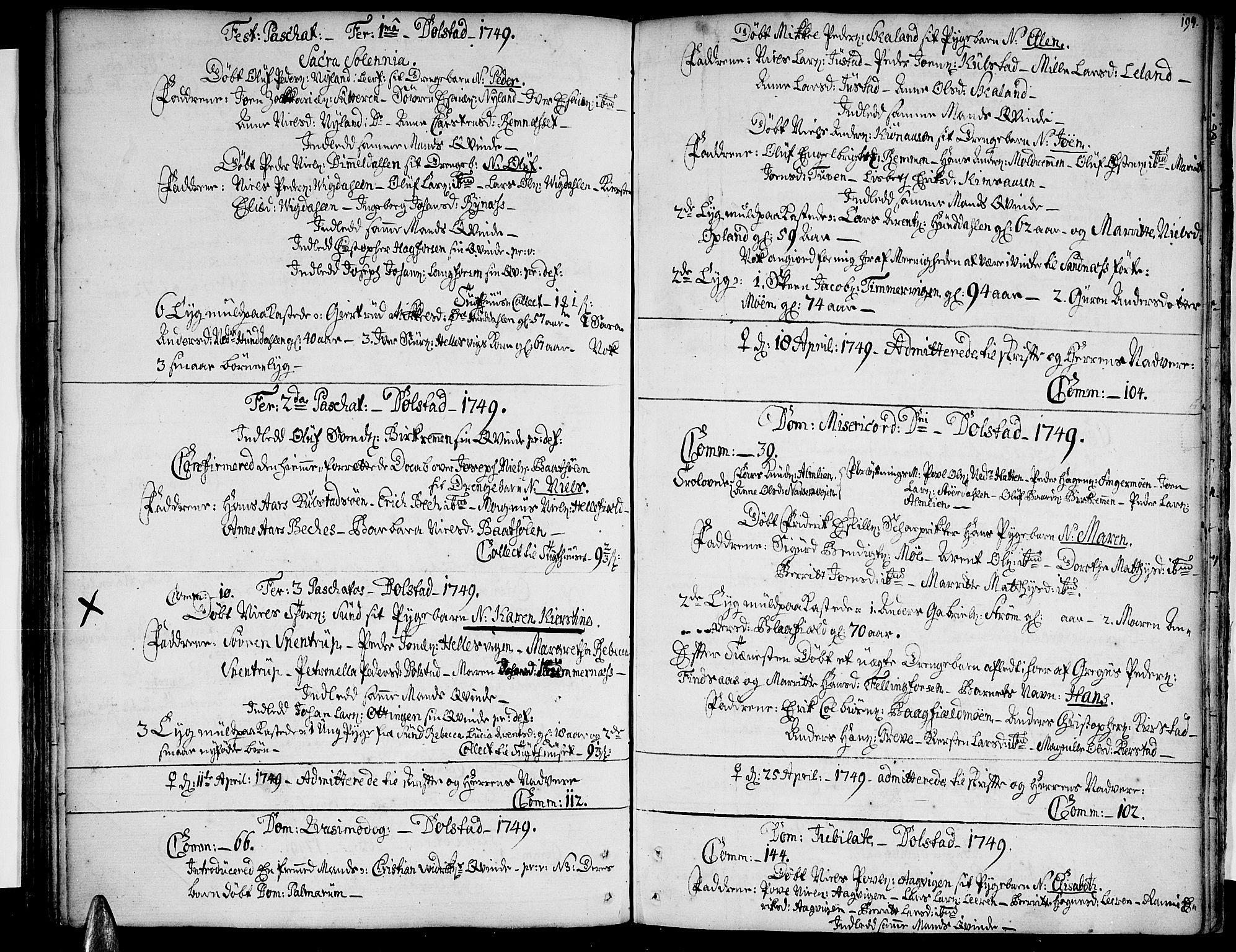 SAT, Ministerialprotokoller, klokkerbøker og fødselsregistre - Nordland, 820/L0284: Ministerialbok nr. 820A05, 1730-1752, s. 194