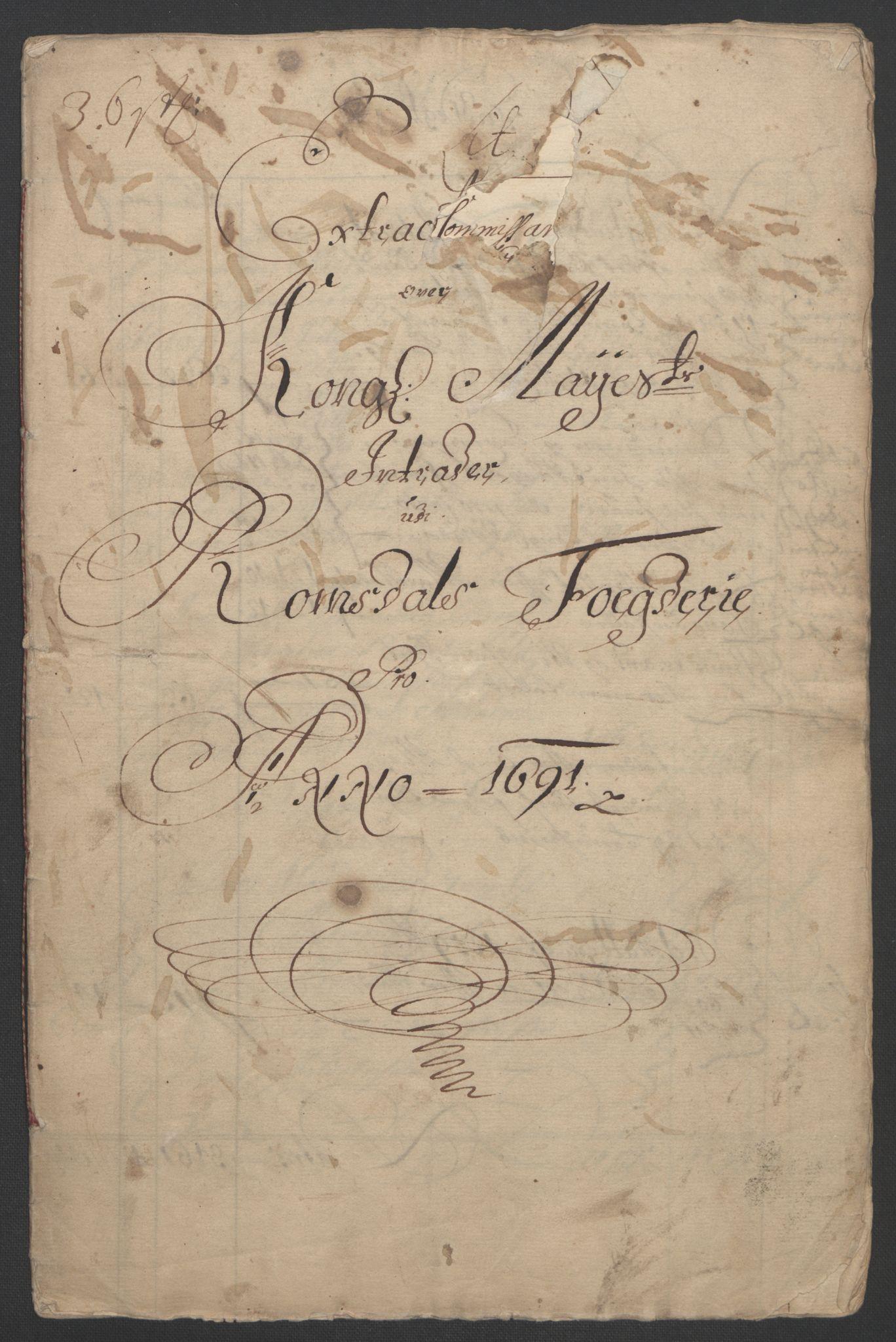 RA, Rentekammeret inntil 1814, Reviderte regnskaper, Fogderegnskap, R55/L3649: Fogderegnskap Romsdal, 1690-1691, s. 192