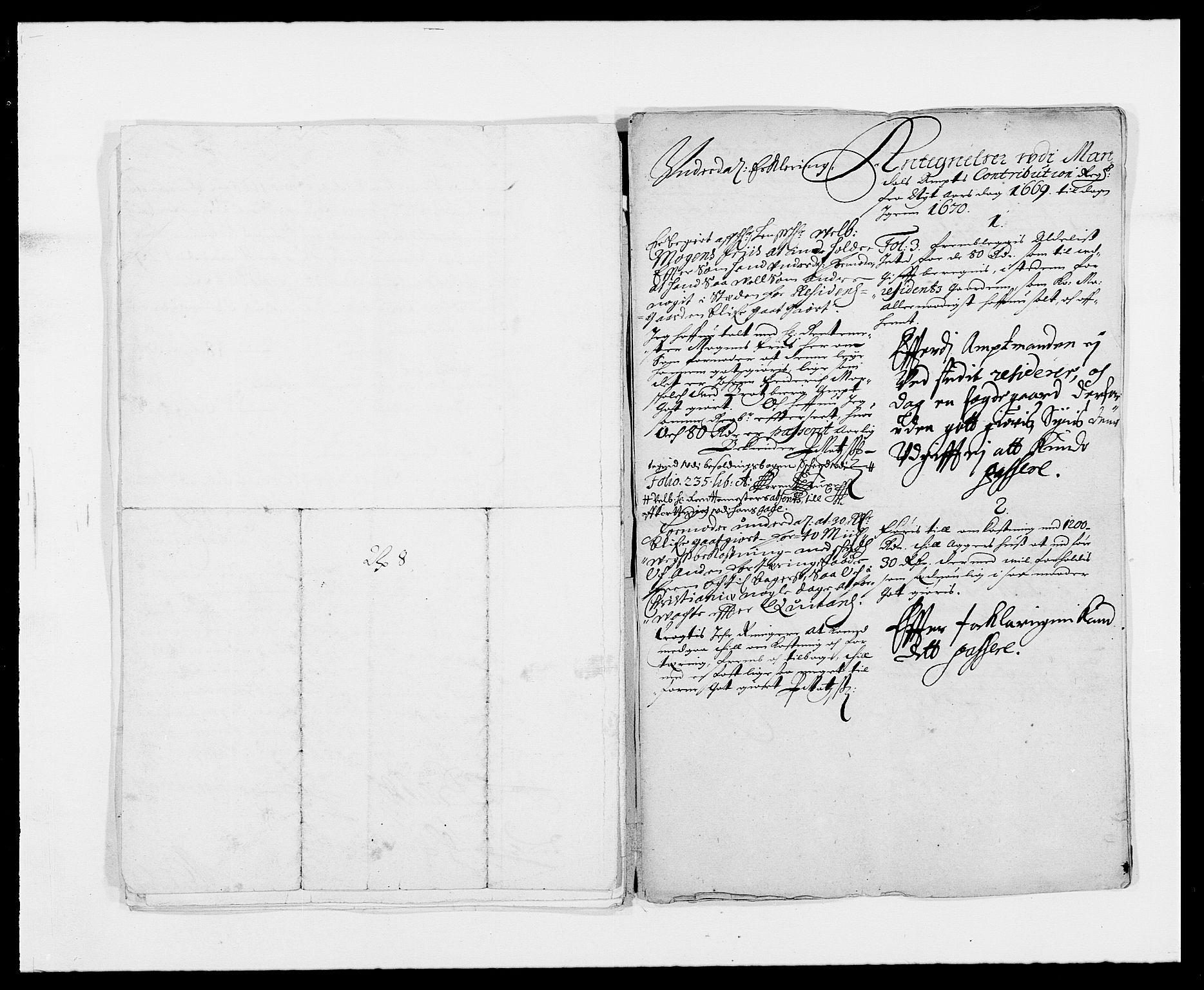 RA, Rentekammeret inntil 1814, Reviderte regnskaper, Fogderegnskap, R42/L2538: Mandal fogderi, 1667-1670, s. 217