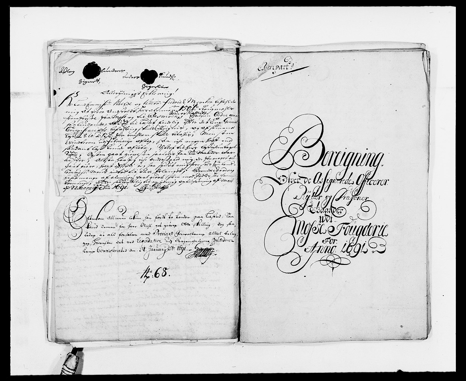 RA, Rentekammeret inntil 1814, Reviderte regnskaper, Fogderegnskap, R02/L0107: Fogderegnskap Moss og Verne kloster, 1685-1691, s. 328