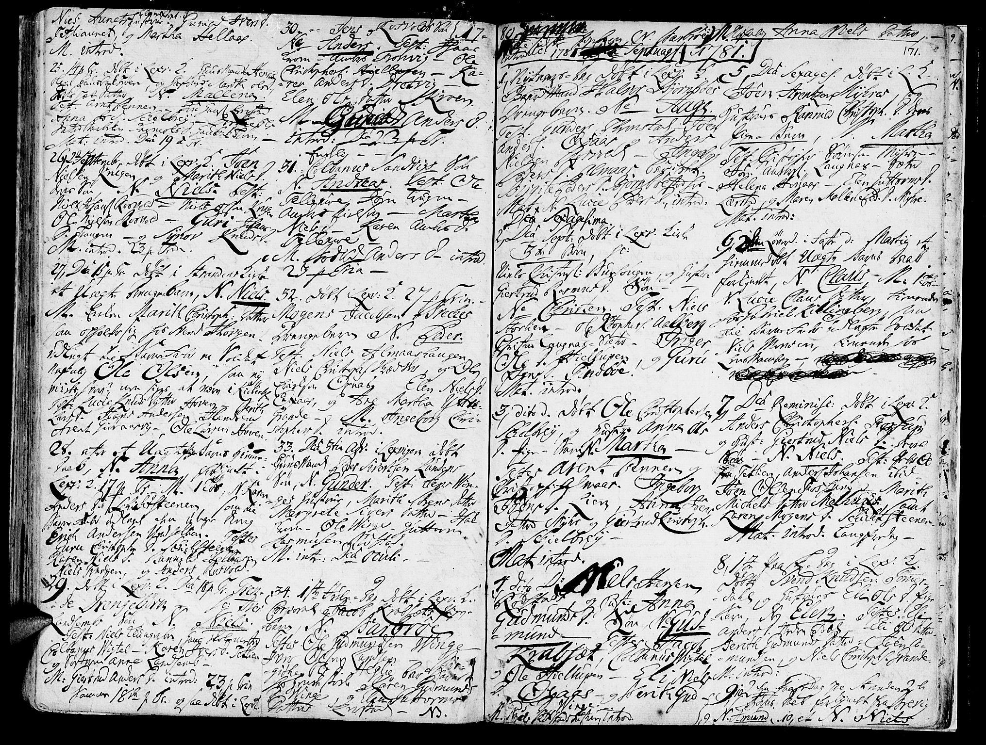 SAT, Ministerialprotokoller, klokkerbøker og fødselsregistre - Nord-Trøndelag, 701/L0003: Ministerialbok nr. 701A03, 1751-1783, s. 171
