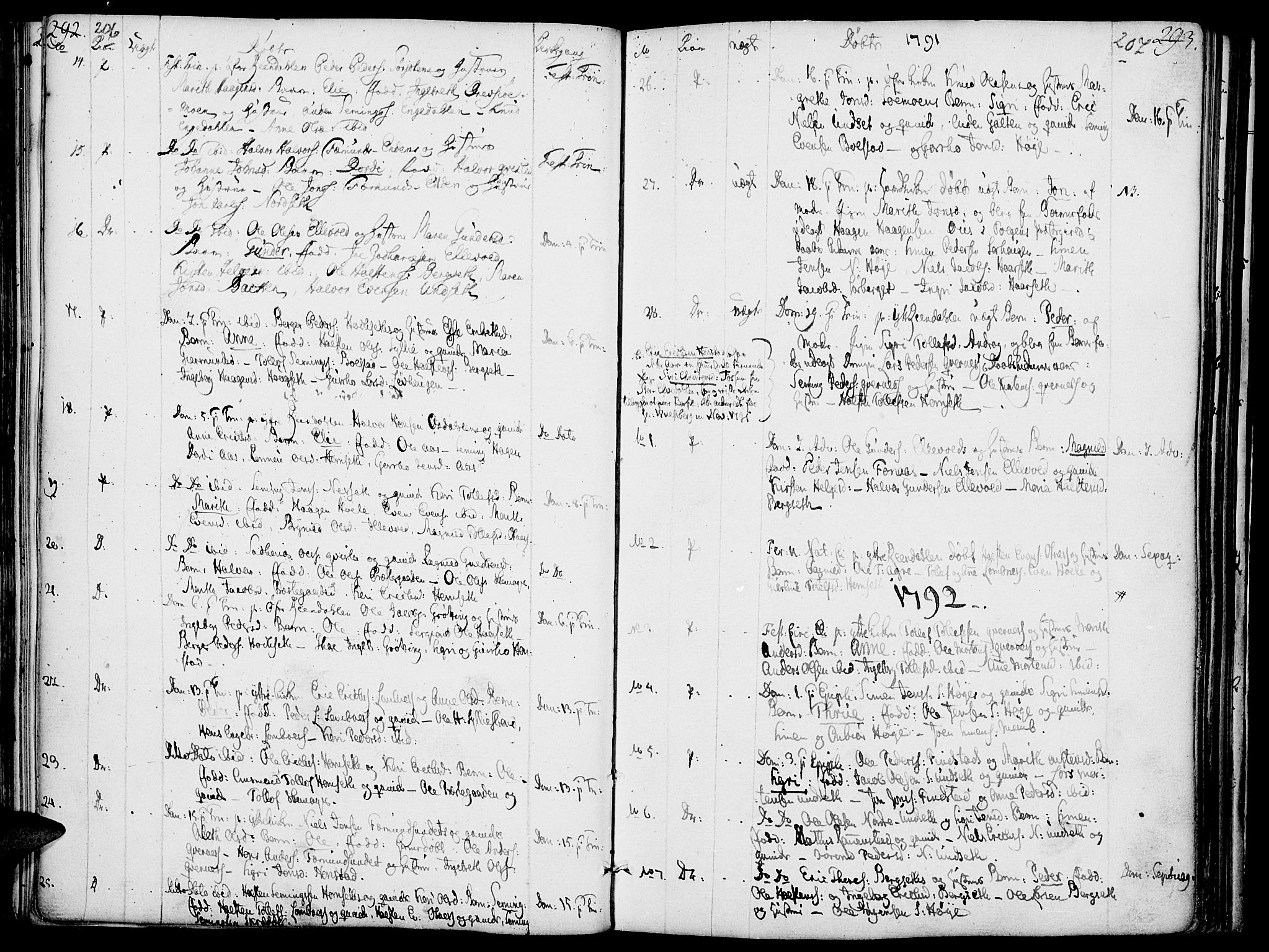SAH, Rendalen prestekontor, H/Ha/Haa/L0002: Ministerialbok nr. 2, 1788-1814, s. 206-207