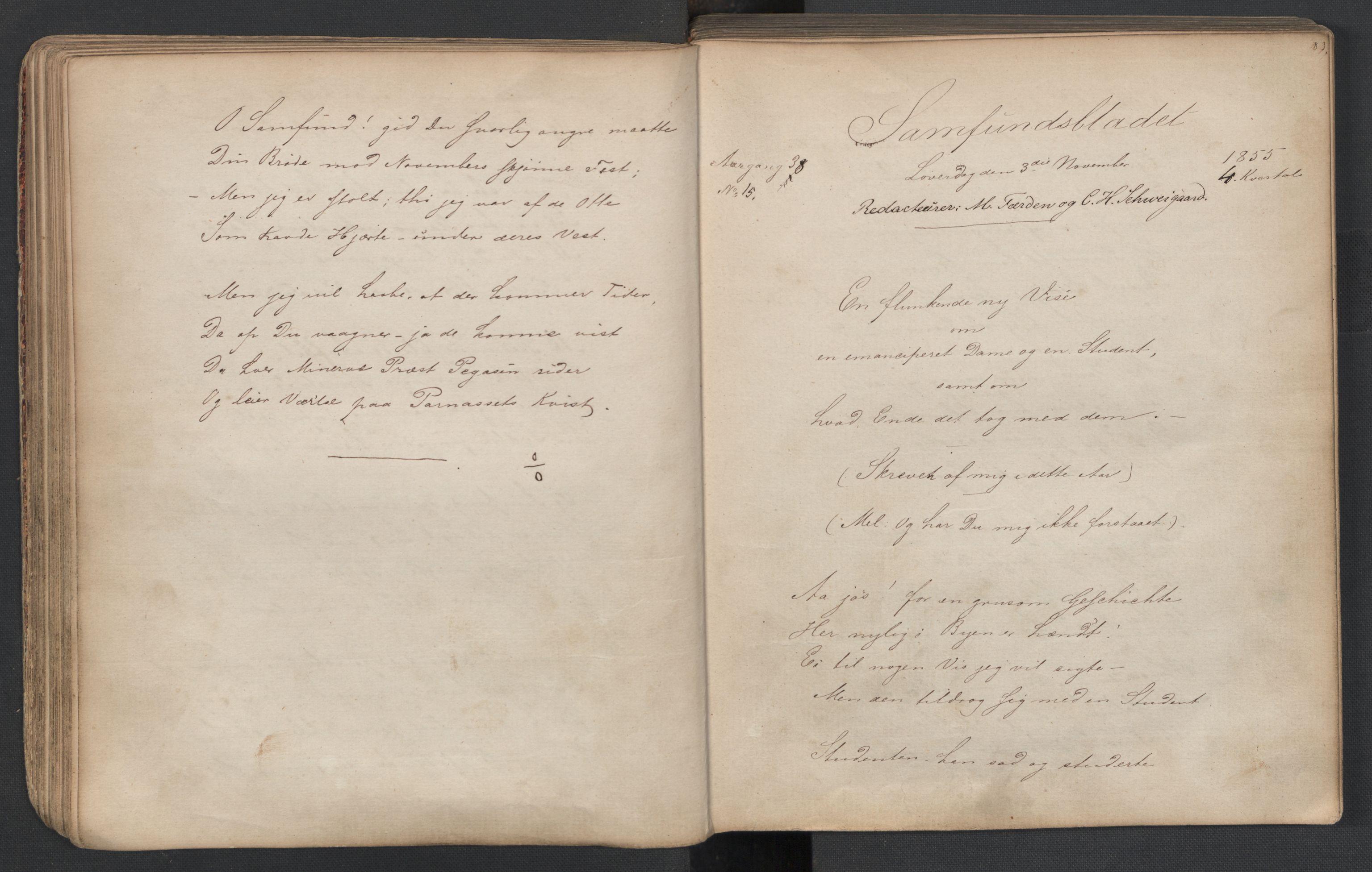 RA, Det Norske Studentersamfund, X/Xa/L0005, 1855-1856, s. 43
