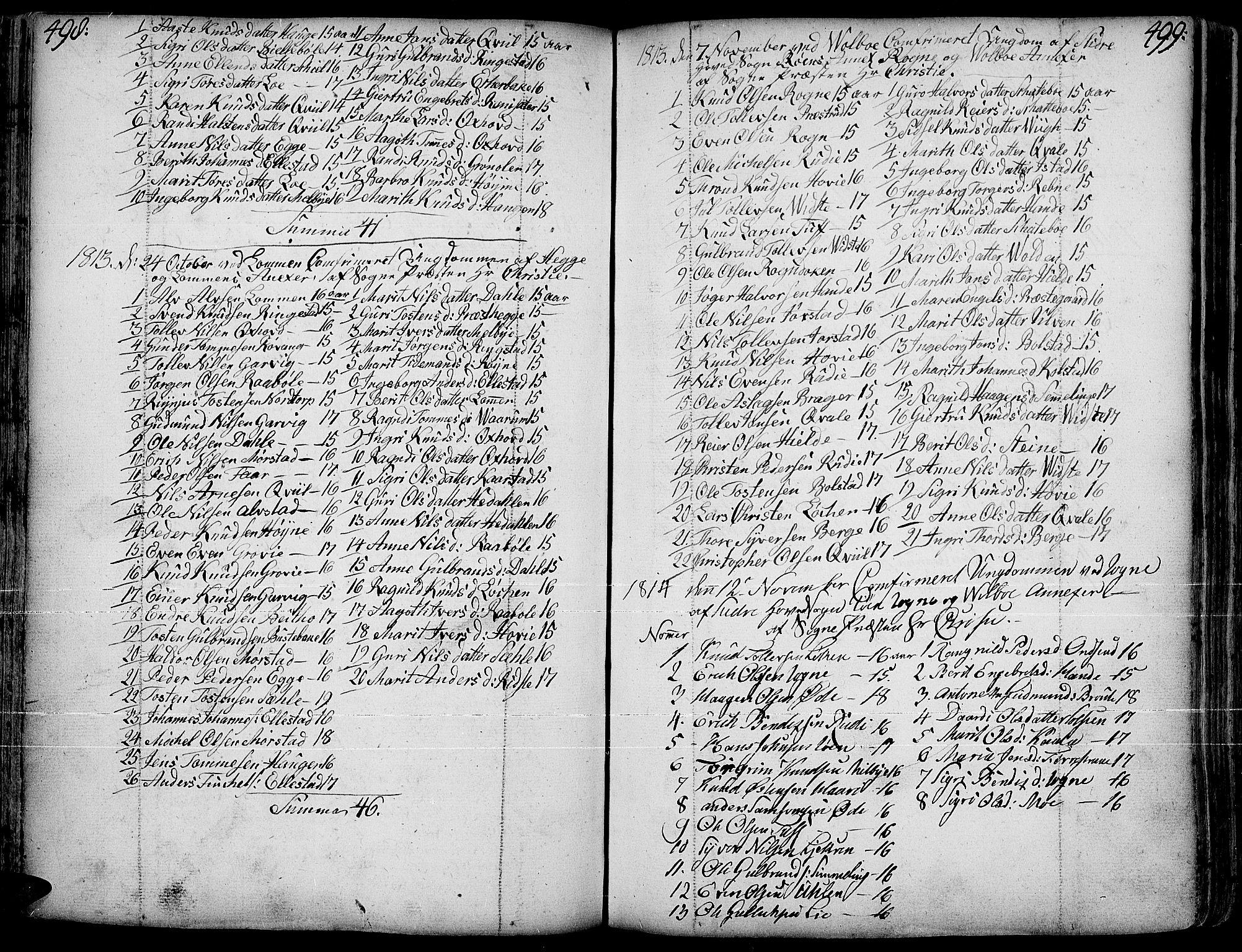 SAH, Slidre prestekontor, Ministerialbok nr. 1, 1724-1814, s. 498-499