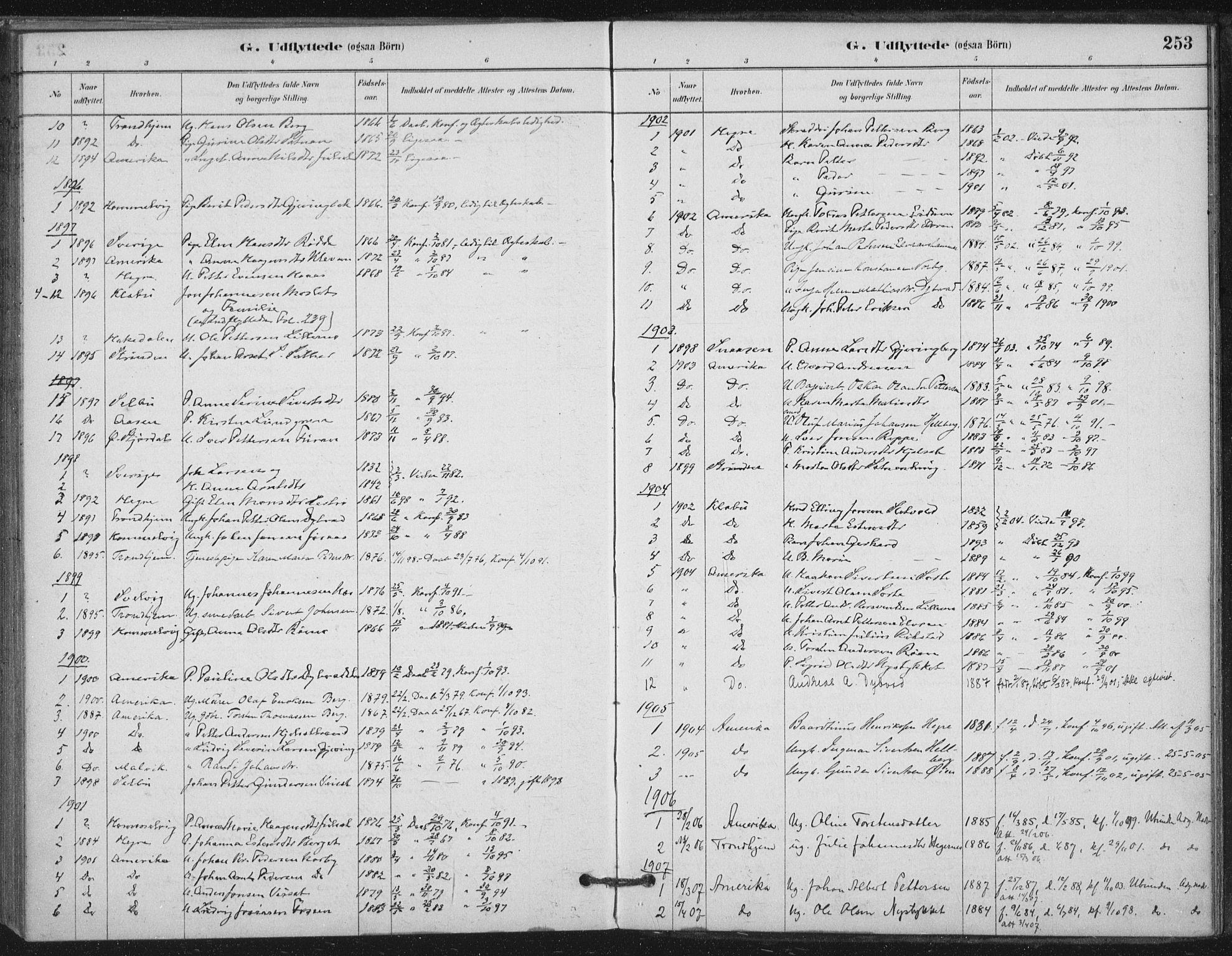 SAT, Ministerialprotokoller, klokkerbøker og fødselsregistre - Nord-Trøndelag, 710/L0095: Ministerialbok nr. 710A01, 1880-1914, s. 253