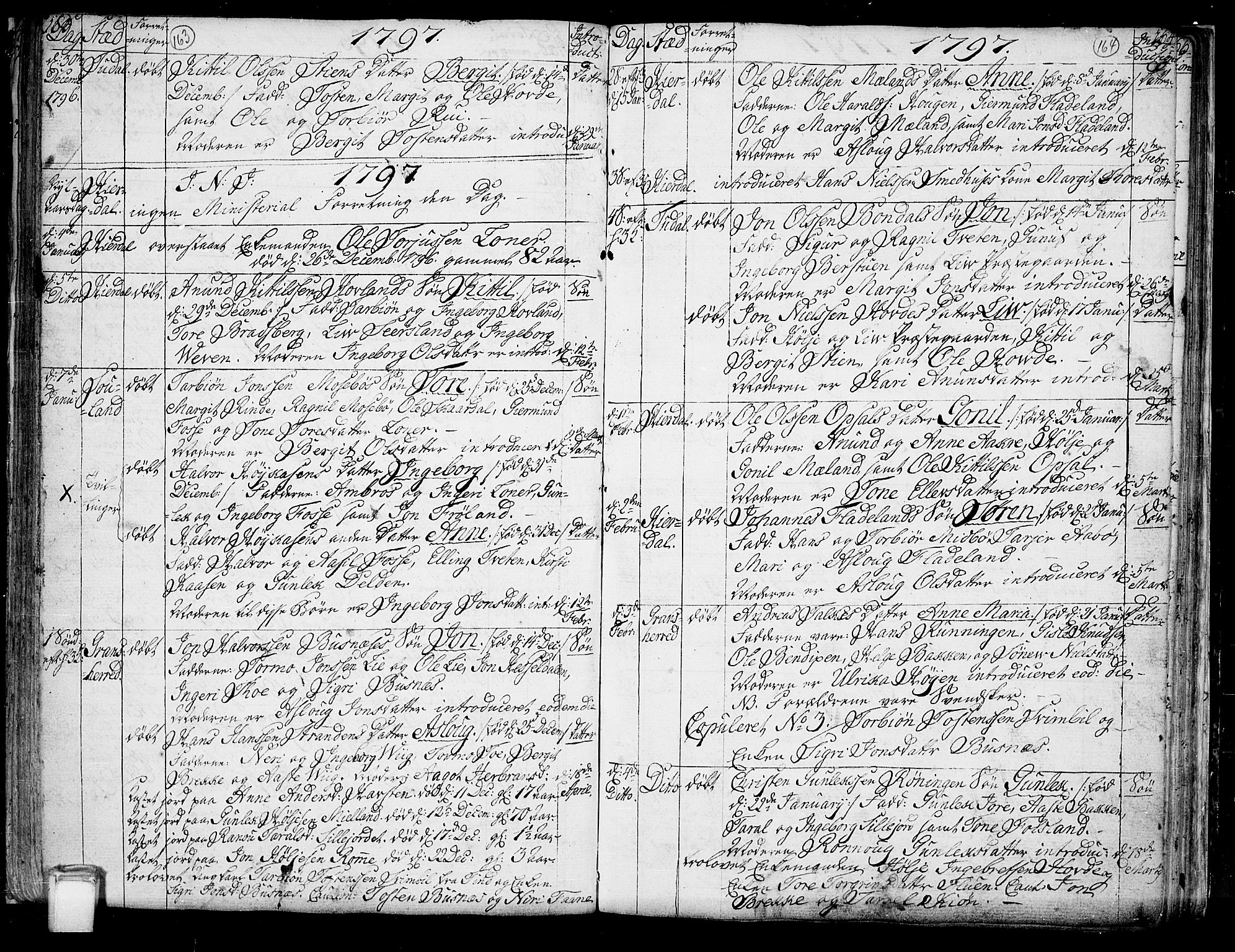 SAKO, Hjartdal kirkebøker, F/Fa/L0005: Ministerialbok nr. I 5, 1776-1801, s. 163-164