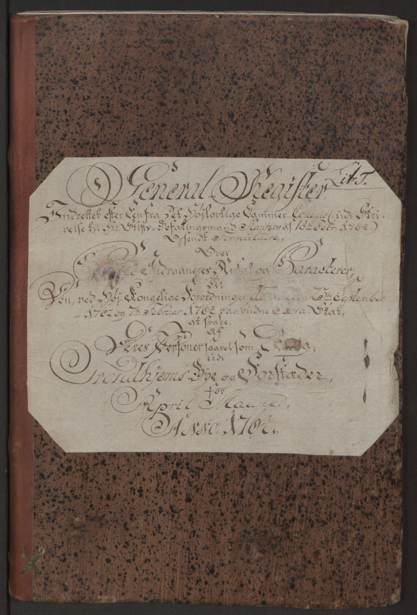 RA, Rentekammeret inntil 1814, Reviderte regnskaper, Byregnskaper, R/Rs/L0516: [S9] Kontribusjonsregnskap, 1762-1767, s. 200