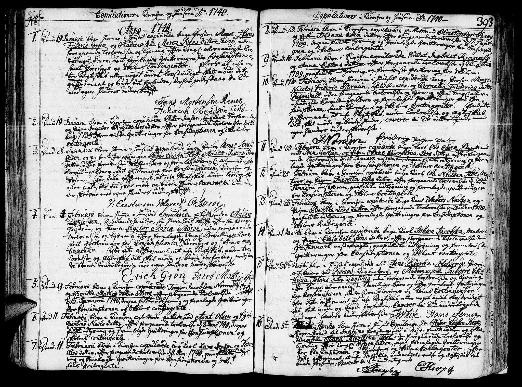SAT, Ministerialprotokoller, klokkerbøker og fødselsregistre - Sør-Trøndelag, 602/L0103: Ministerialbok nr. 602A01, 1732-1774, s. 393